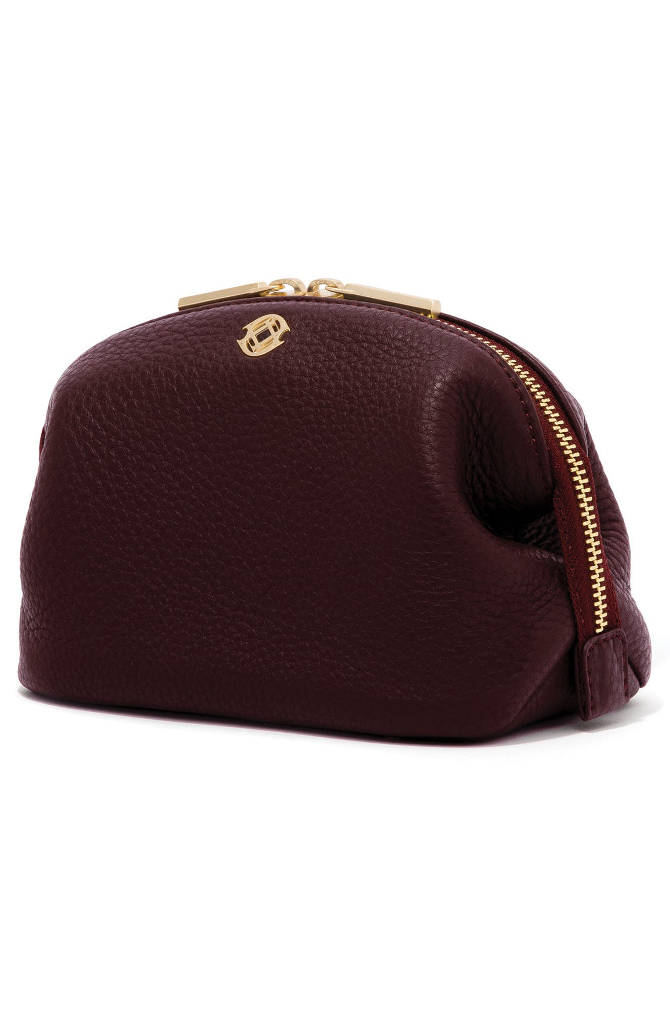 Small Lola Leather Cosmetics Pouch,                             Alternate thumbnail 8, color,