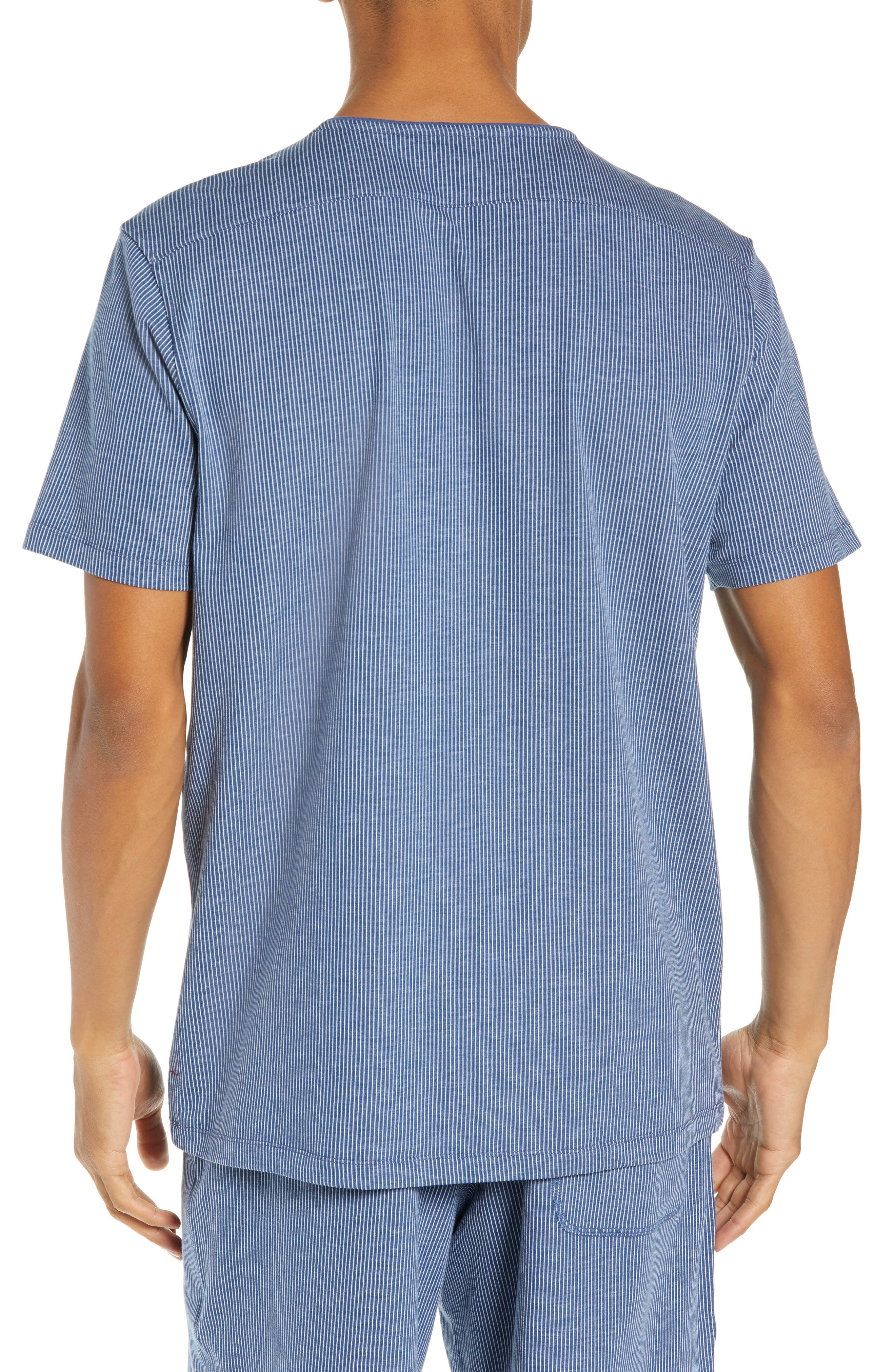 Pinstripe Sleep T-Shirt,                             Alternate thumbnail 2, color,                             BLUE