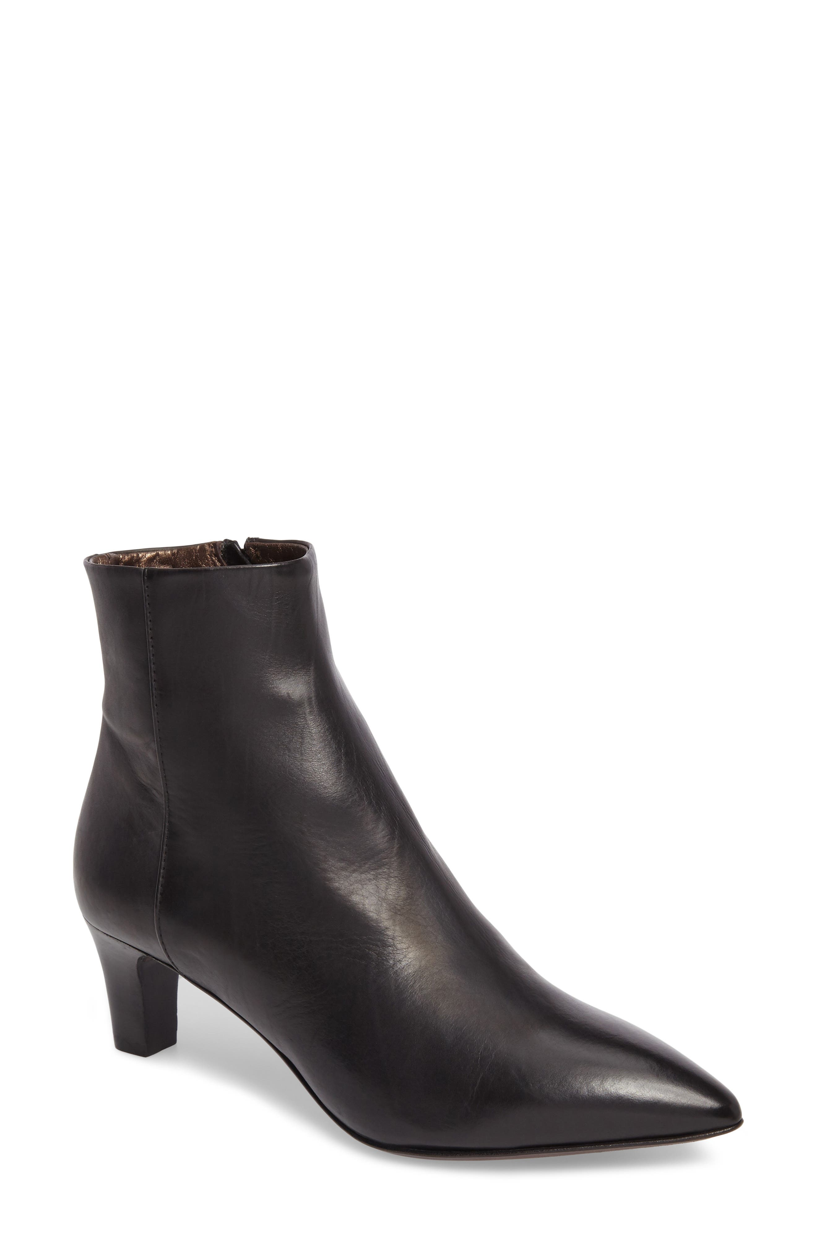 AG Pointed Toe Bootie,                             Main thumbnail 1, color,                             001