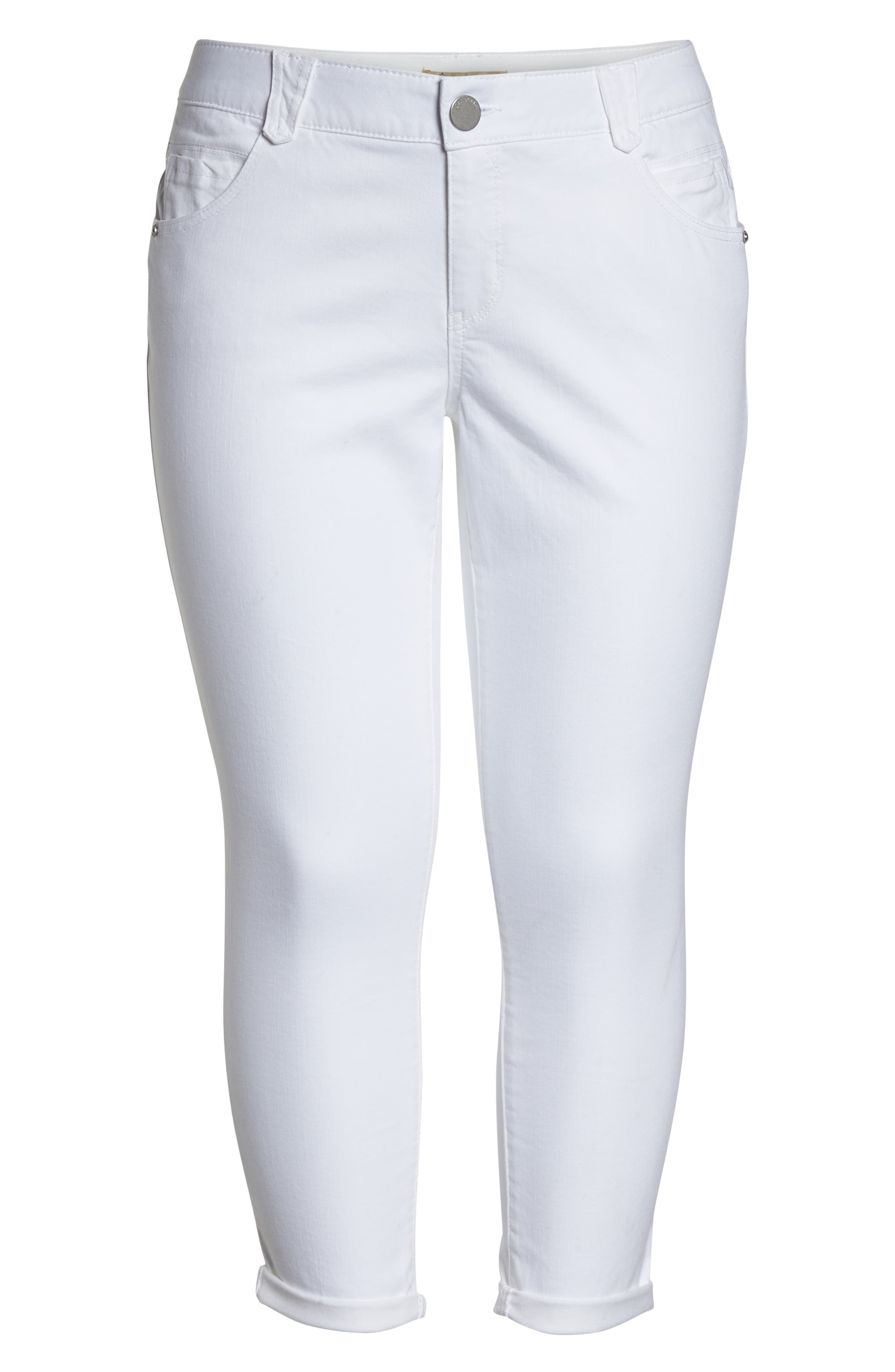 Ab-Solution Ankle Jeans,                             Alternate thumbnail 6, color,                             OPTIC WHITE