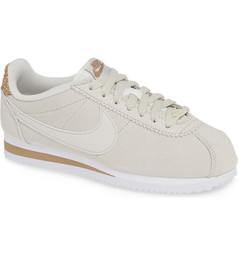 on sale f492f b1ca9 NIKE Classic Cortez Premium Sneaker, Main, color, LIGHT BONE CANTEEN