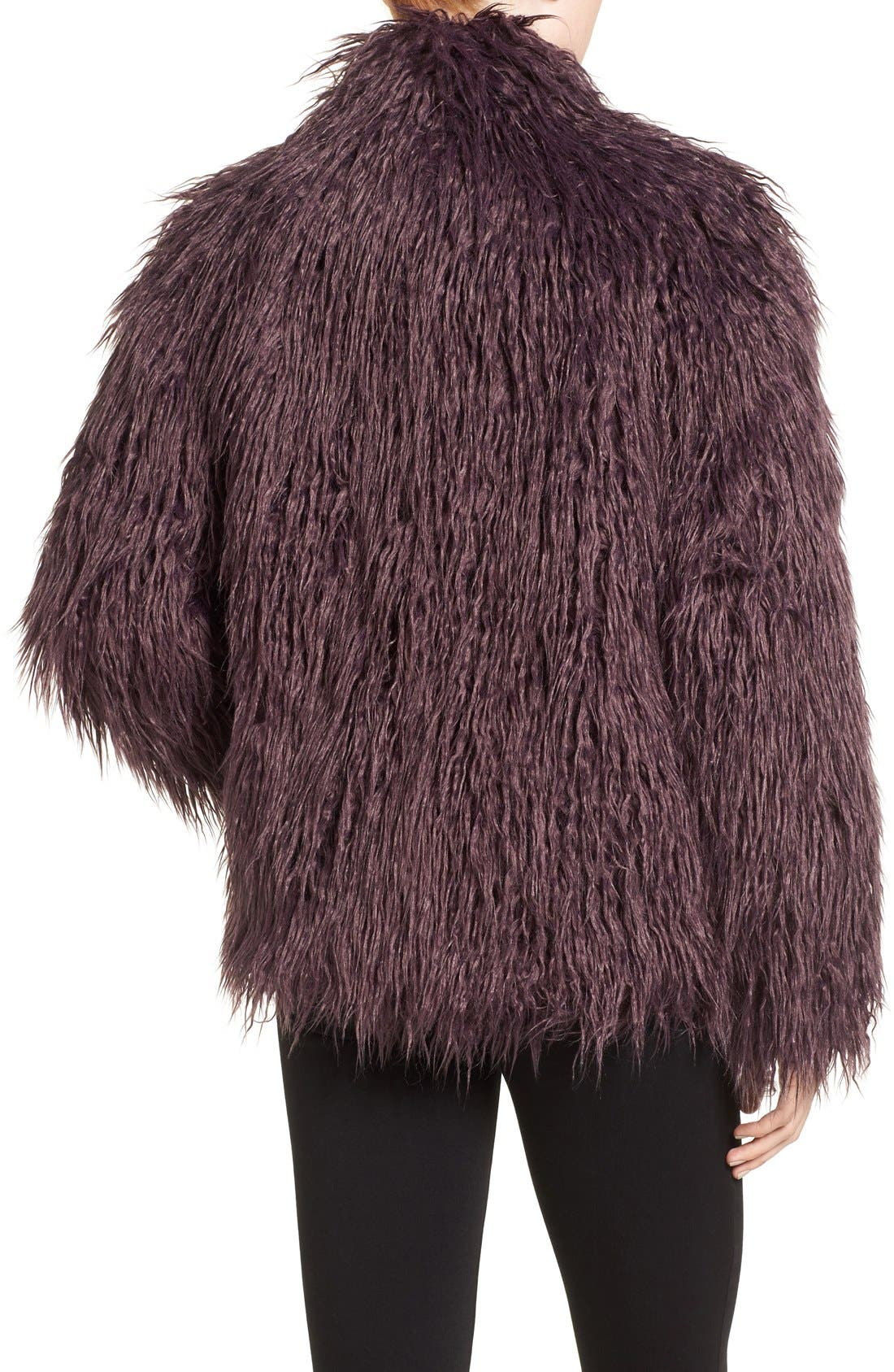 Shaggy Faux Fur Jacket,                             Alternate thumbnail 8, color,