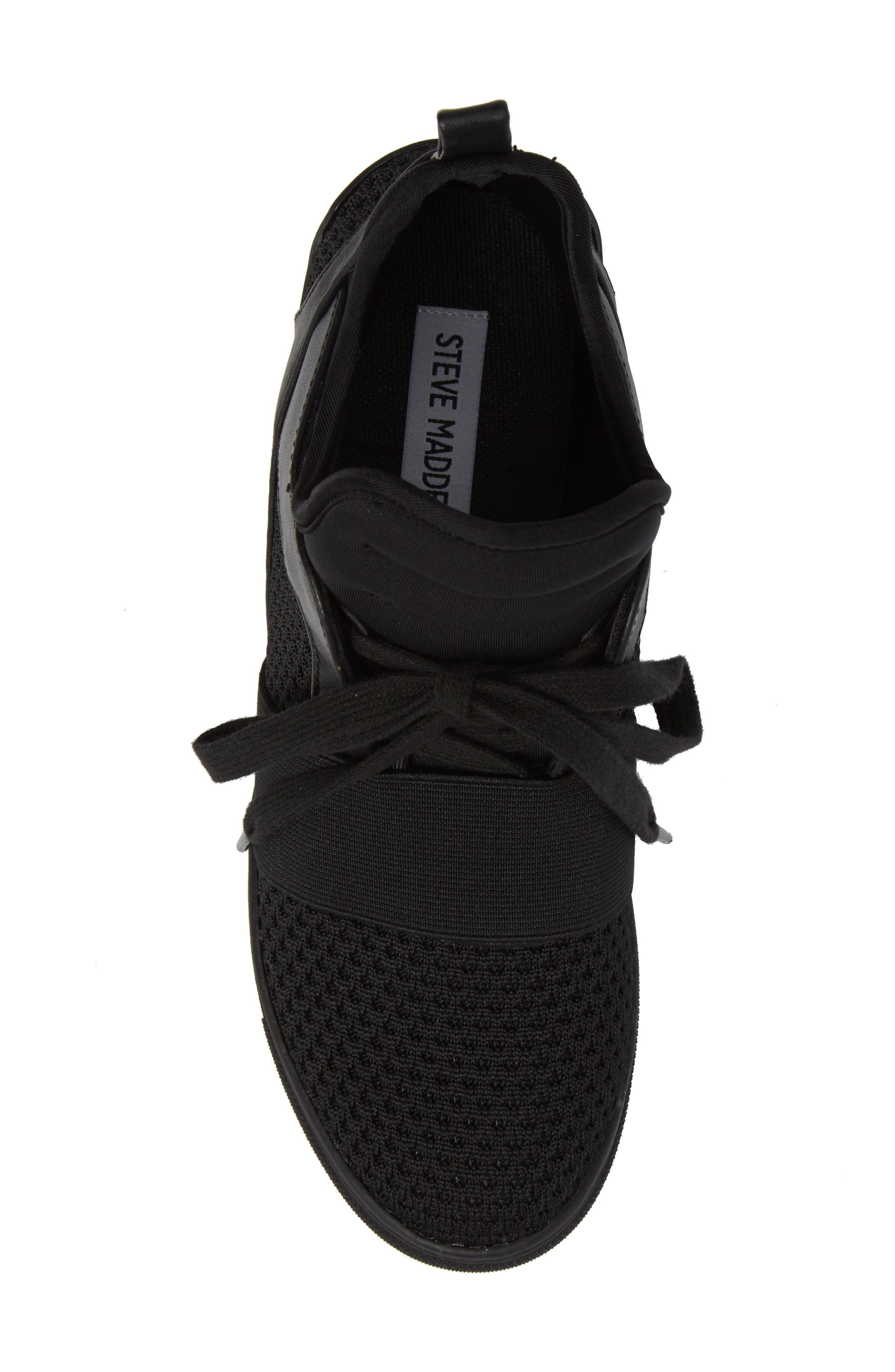 Lexie Wedge Sneaker,                             Alternate thumbnail 5, color,                             001