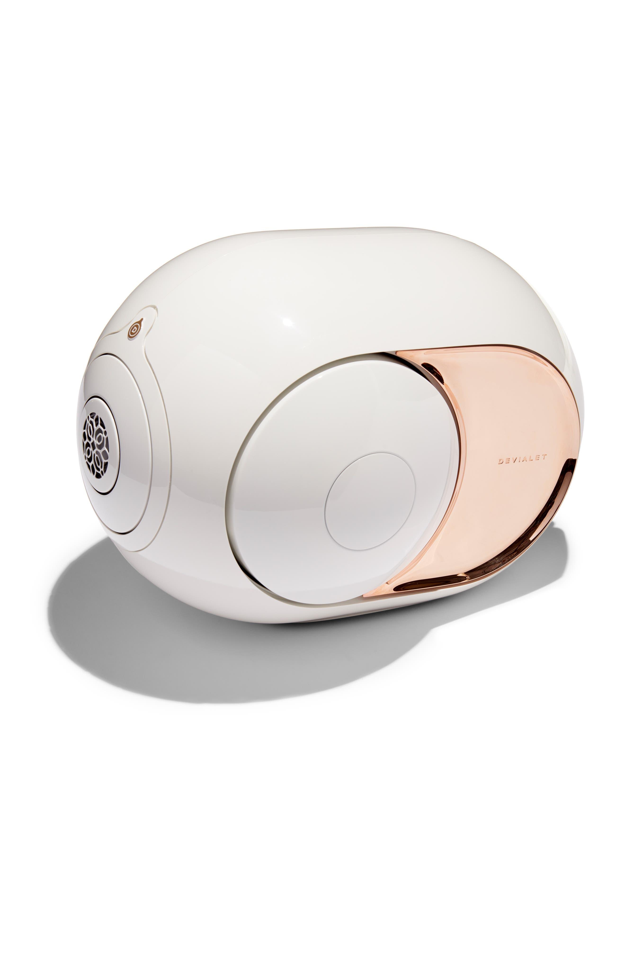Gold Phantom Wireless Speaker,                             Main thumbnail 1, color,                             WHITE/ GOLD