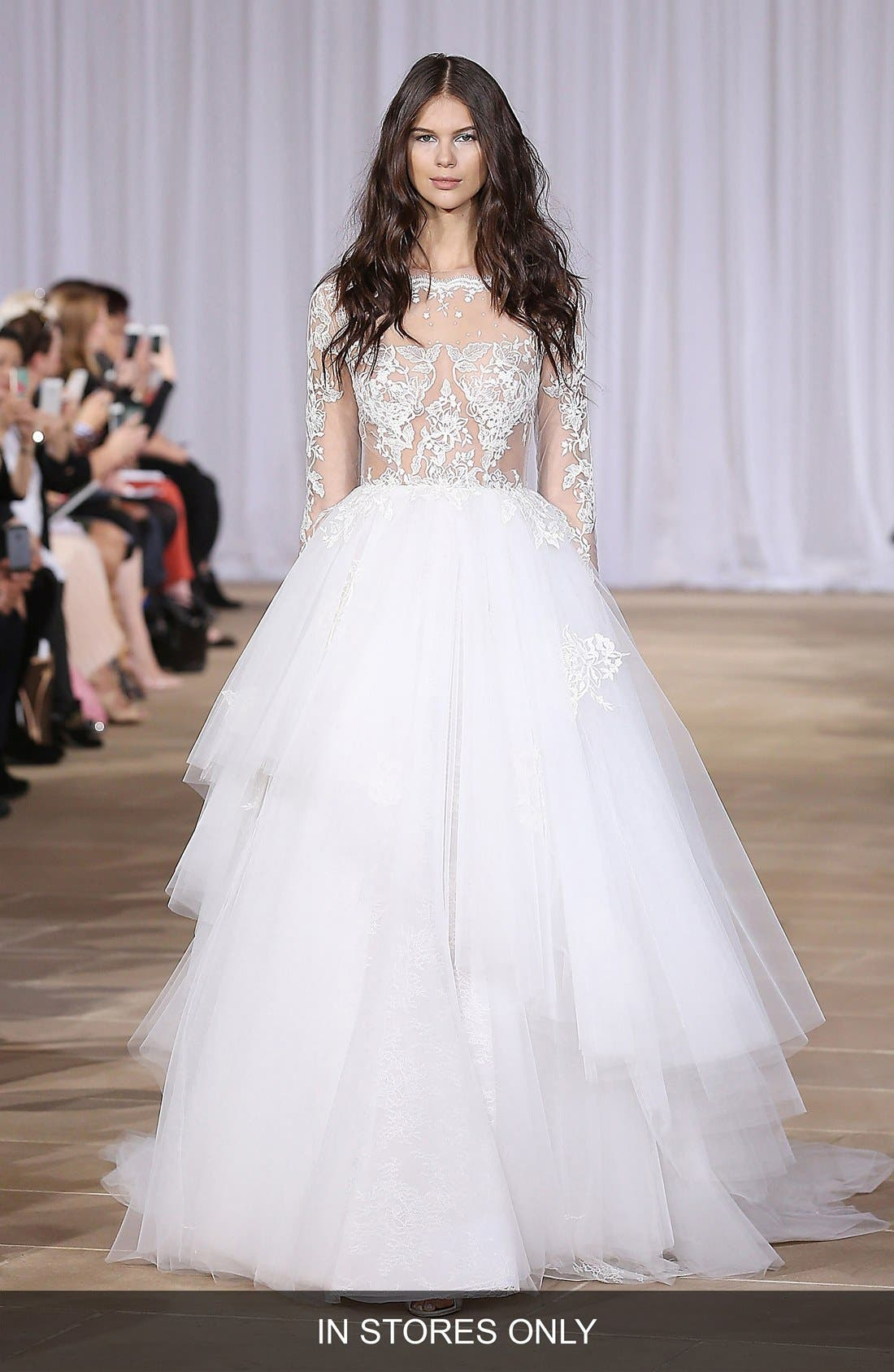 Aliora Embroidered Illusion & Tulle Ballgown,                             Main thumbnail 1, color,                             900