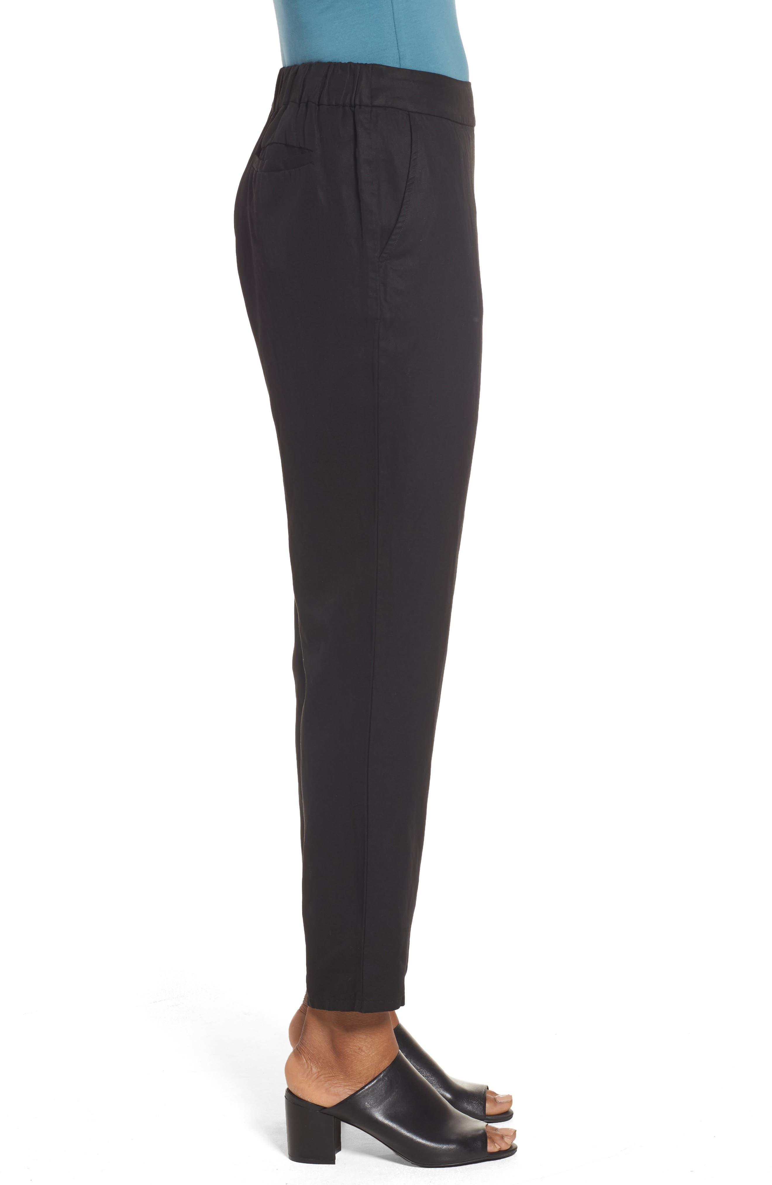Tencel<sup>®</sup> & Linen Ankle Pants,                             Alternate thumbnail 5, color,
