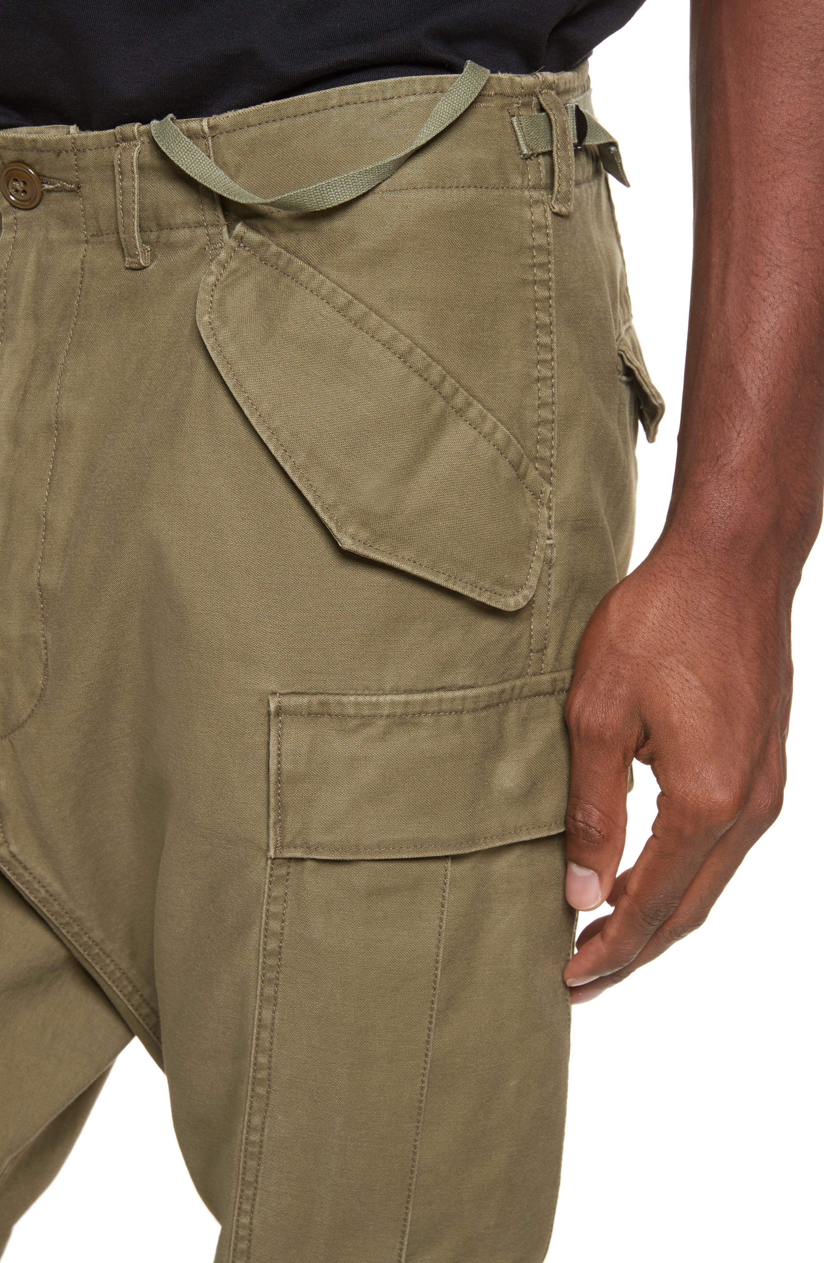 Surplus Military Cargo Pants,                             Alternate thumbnail 4, color,                             OLIVE
