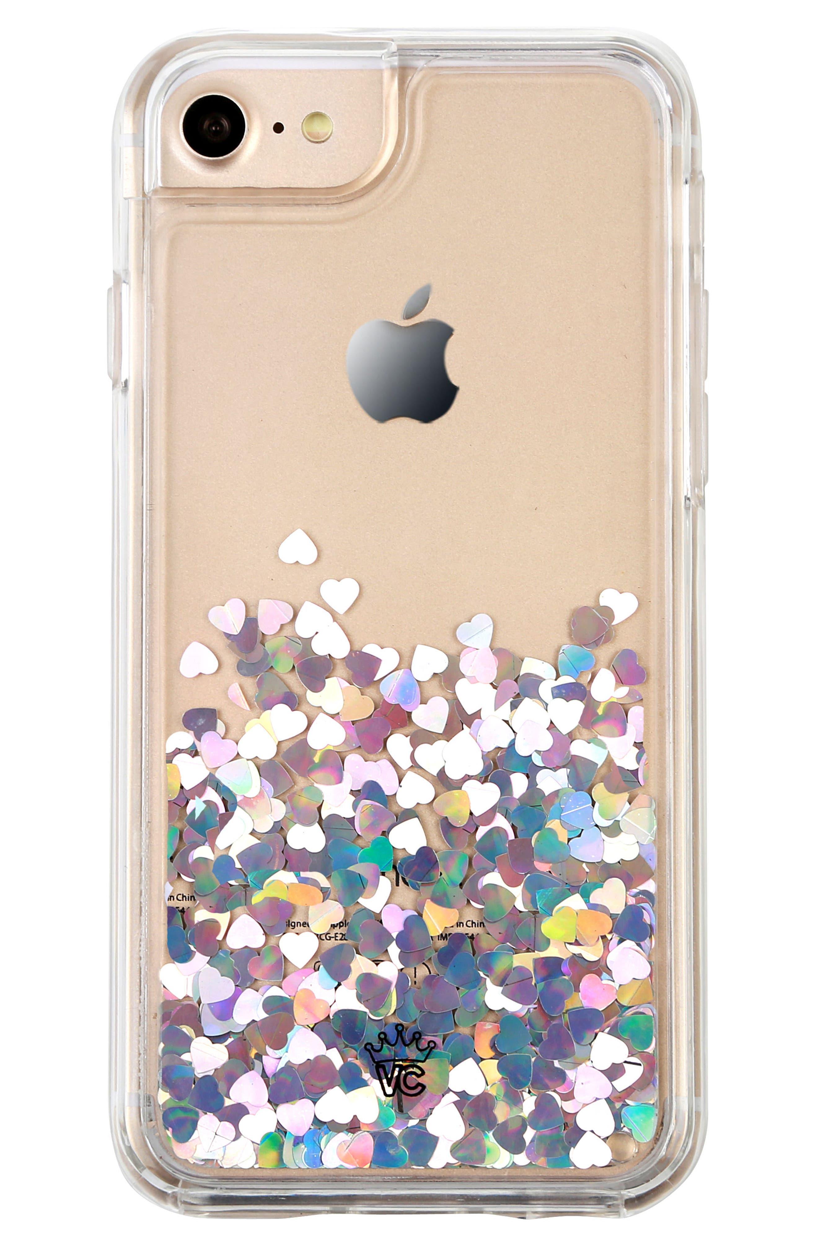 Holo Hearts iPhone 7 Case,                             Alternate thumbnail 4, color,                             040