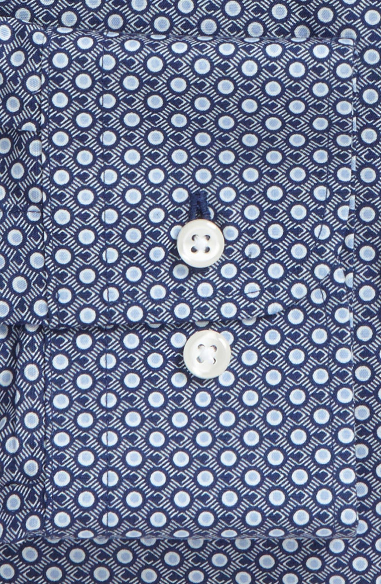 Trim Fit Dress Shirt,                             Alternate thumbnail 2, color,