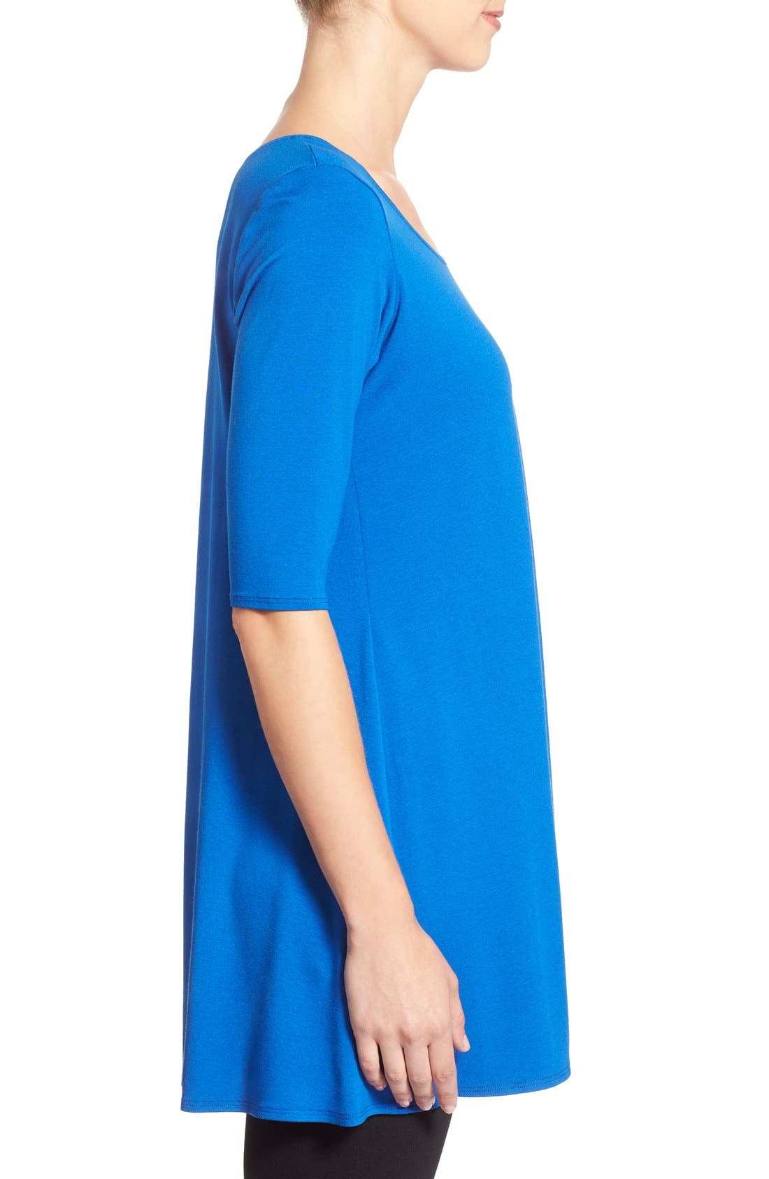Scoop Neck Elbow Sleeve Jersey Tunic,                             Alternate thumbnail 29, color,