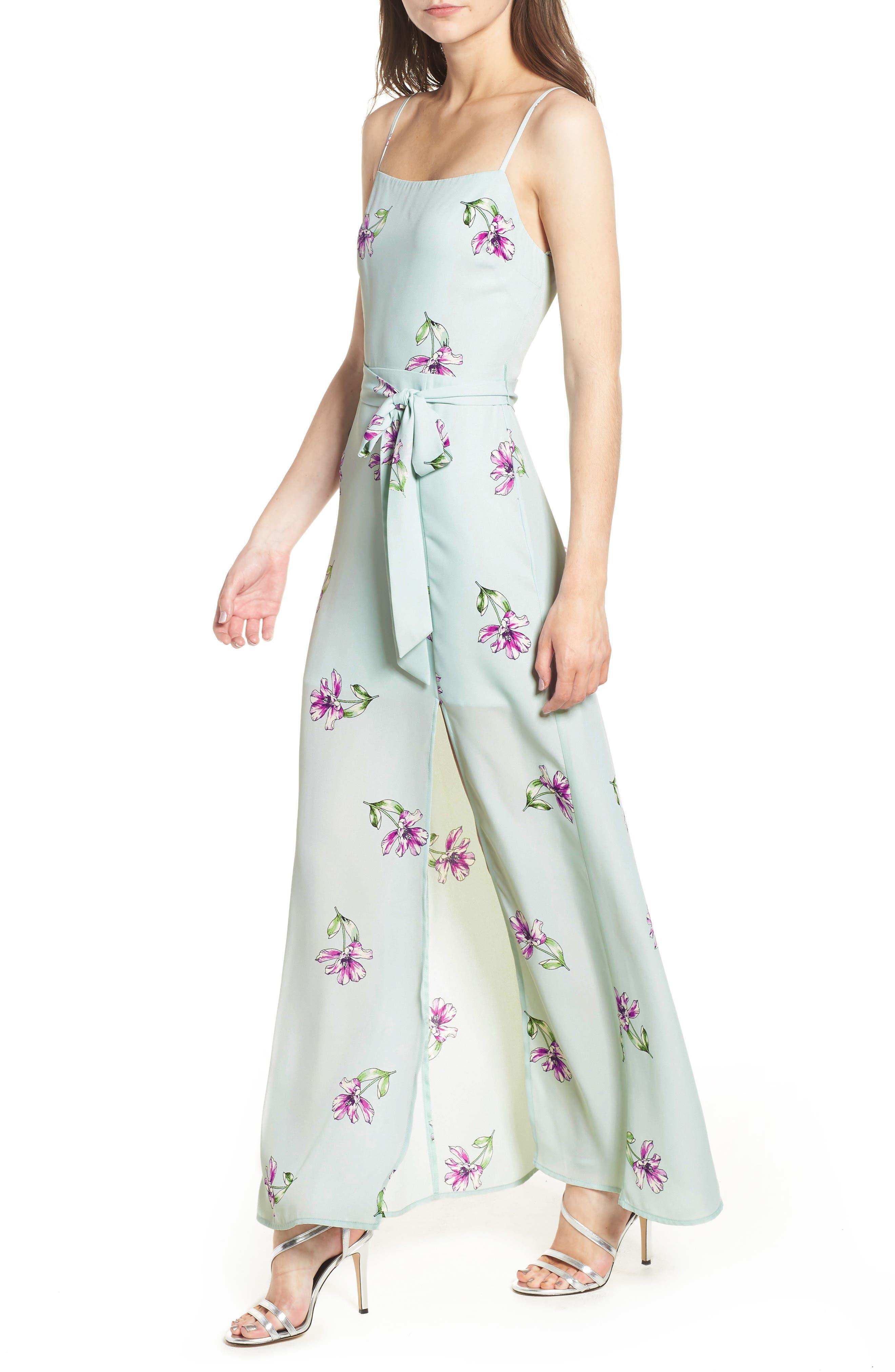 Tie Waist Maxi Dress,                         Main,                         color, 300