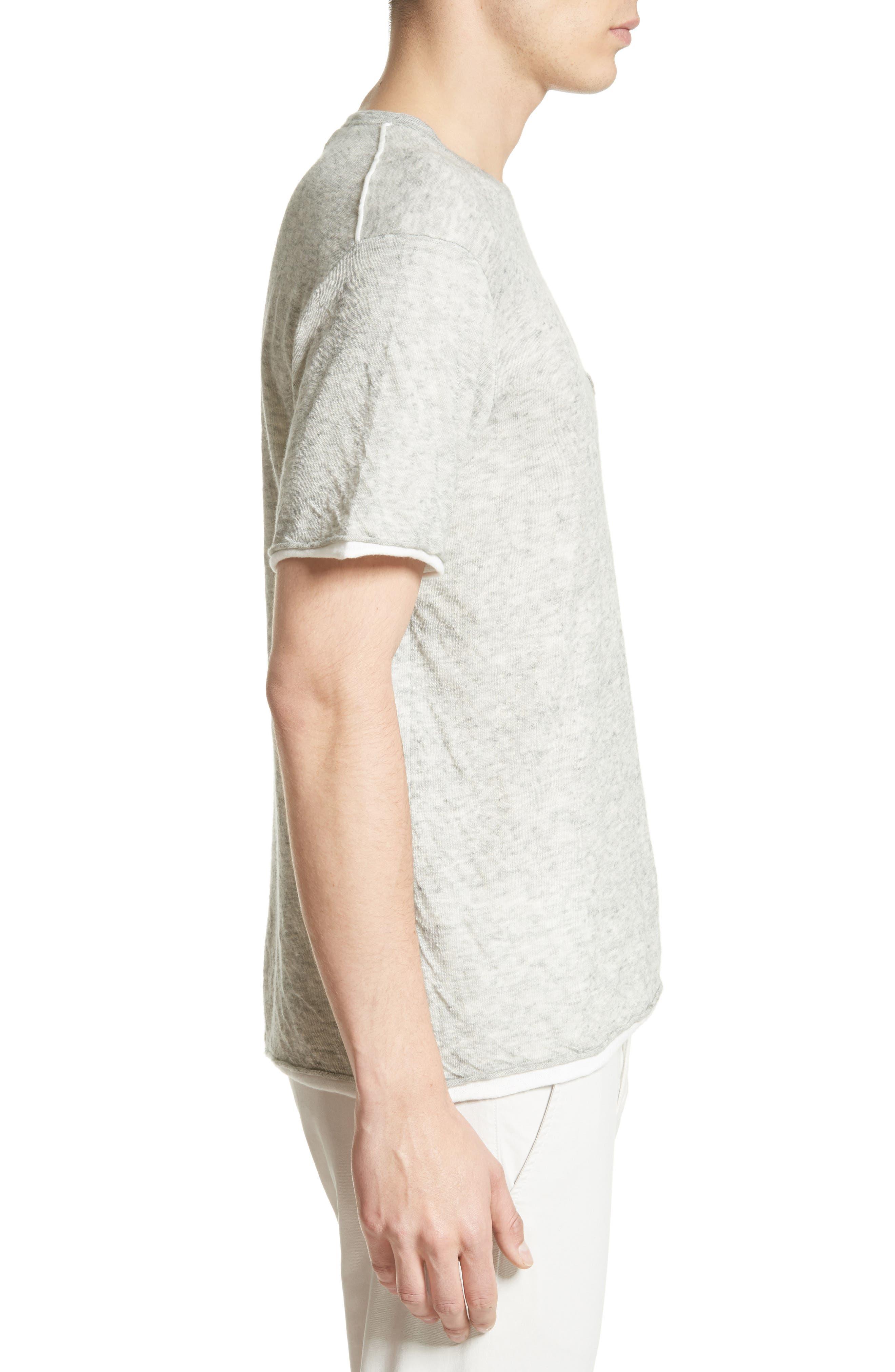 Tripp Cotton & Wool T-Shirt,                             Alternate thumbnail 3, color,                             068