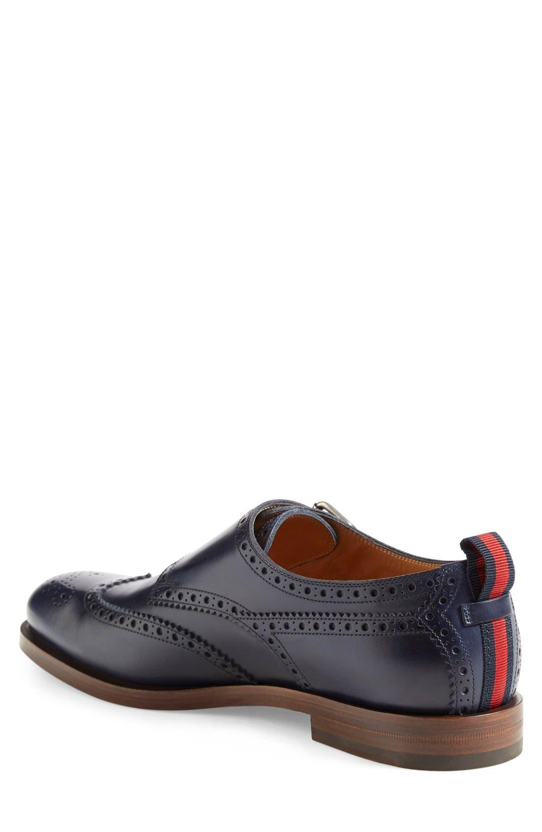 Double Monk Strap Wingtip Shoe,                             Alternate thumbnail 3, color,                             473