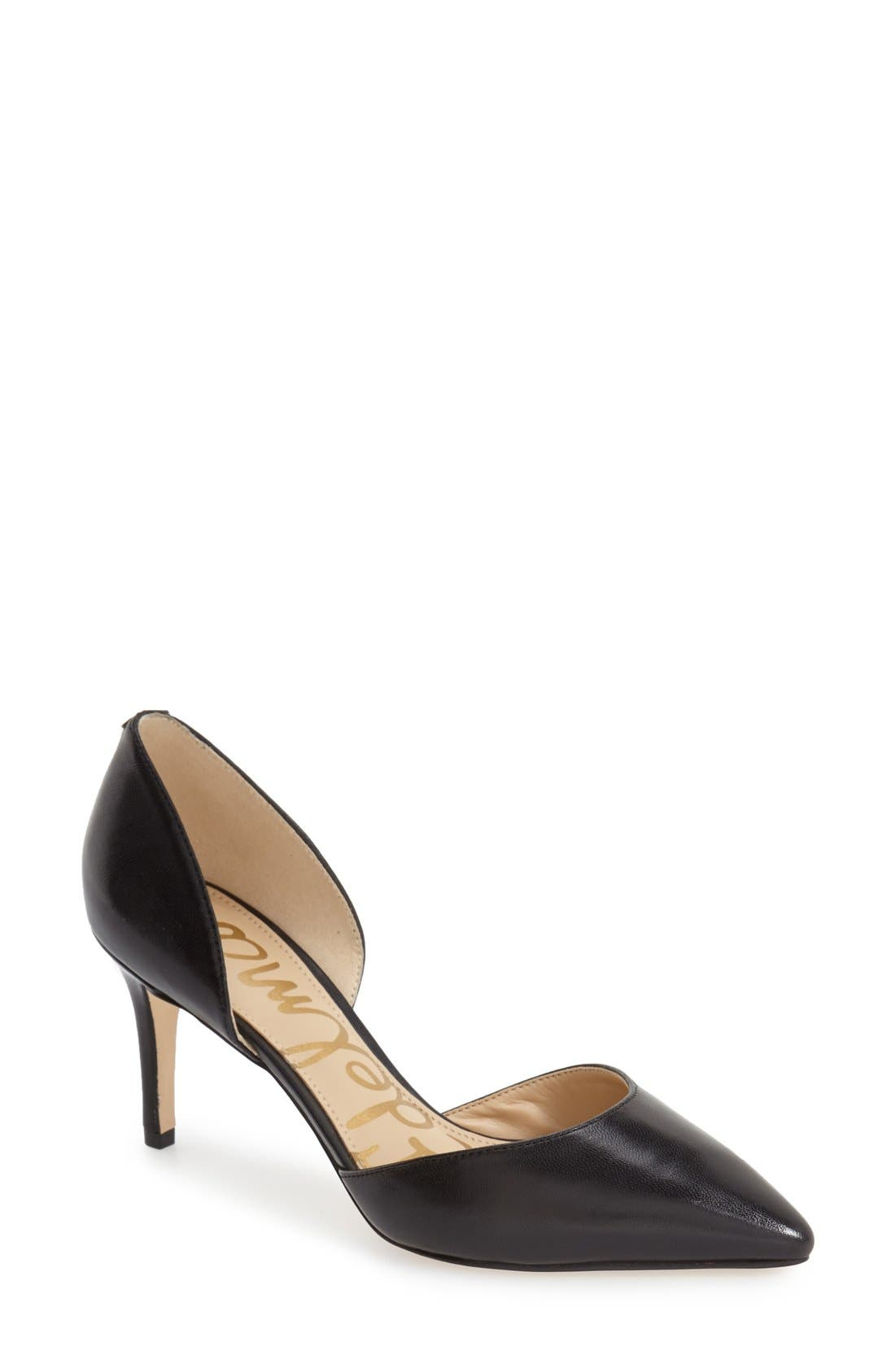 'Telsa' d'Orsay Pointy Toe Pump,                             Main thumbnail 5, color,