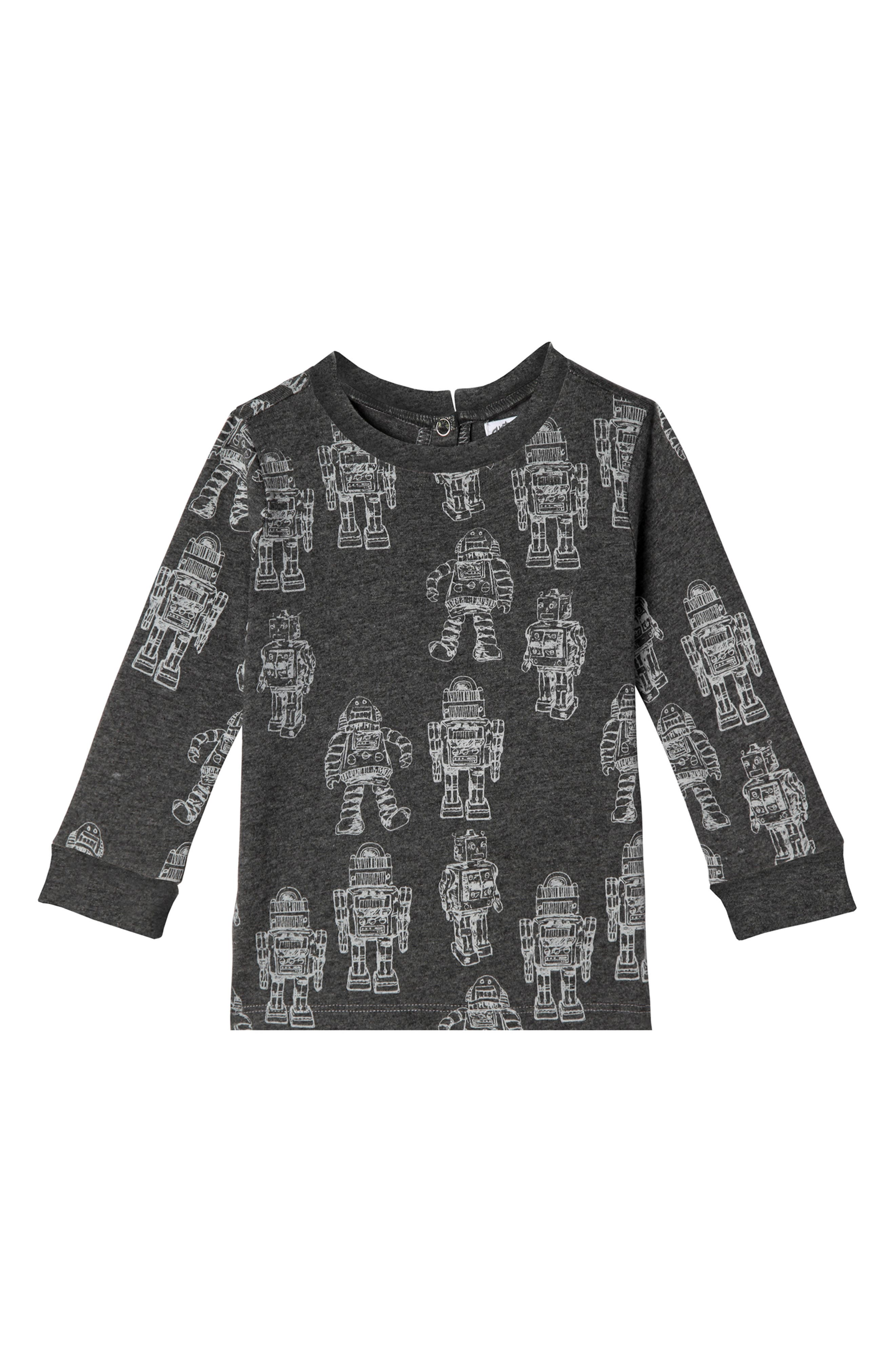 Liam Robot Organic Cotton T-Shirt,                             Main thumbnail 1, color,                             025