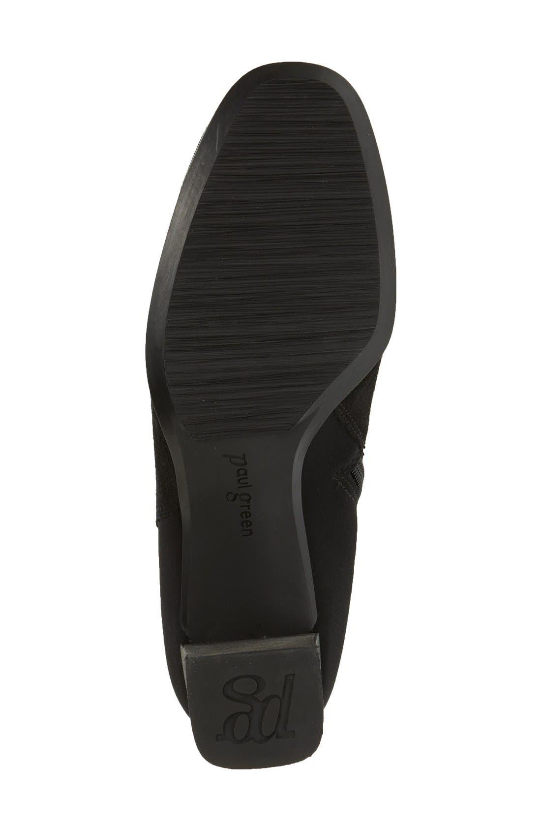 'Jackie' Water Resistant Boot,                             Alternate thumbnail 4, color,                             BLACK SUEDE