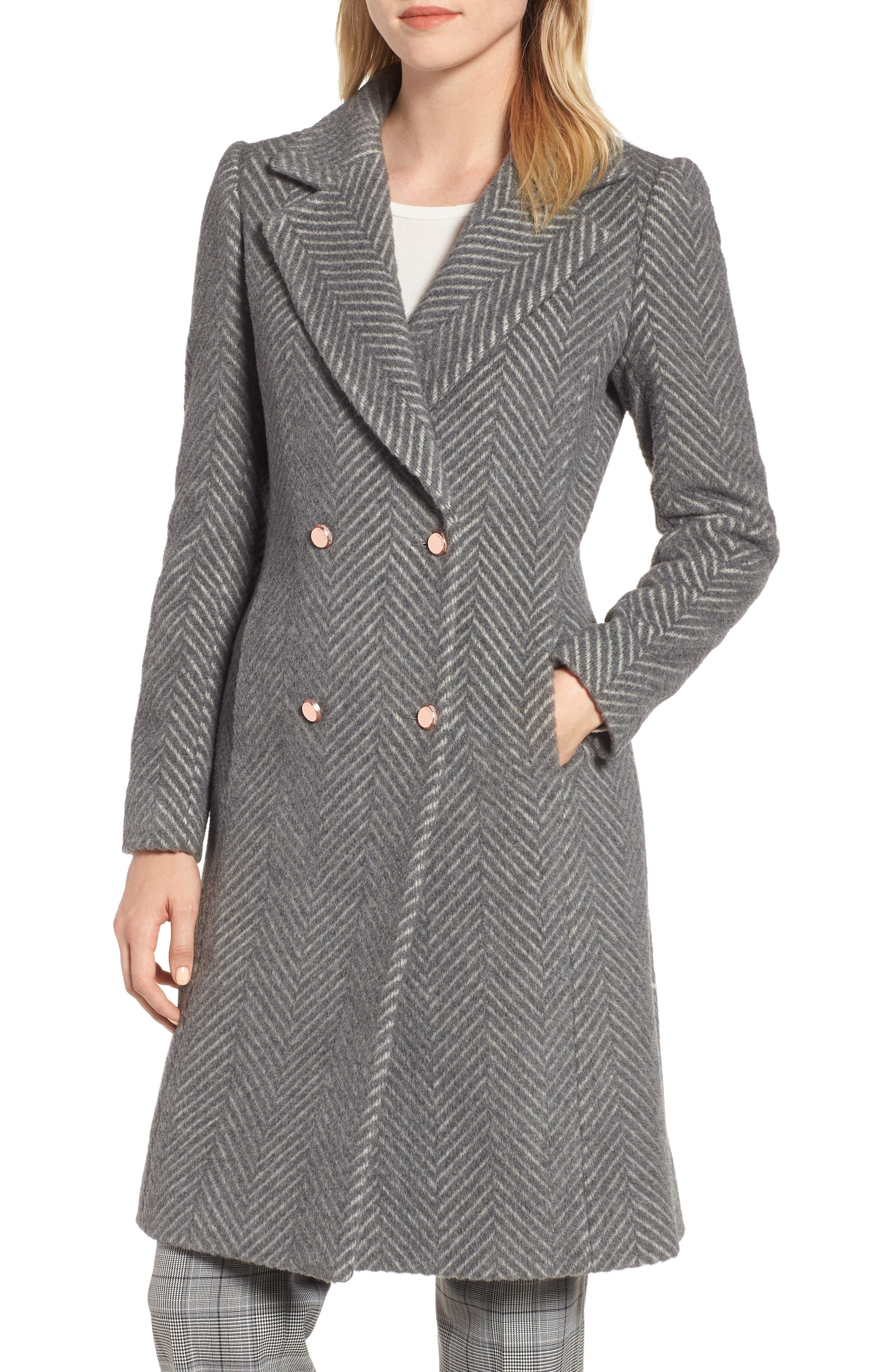Chevron Coat, Main, color, GREY