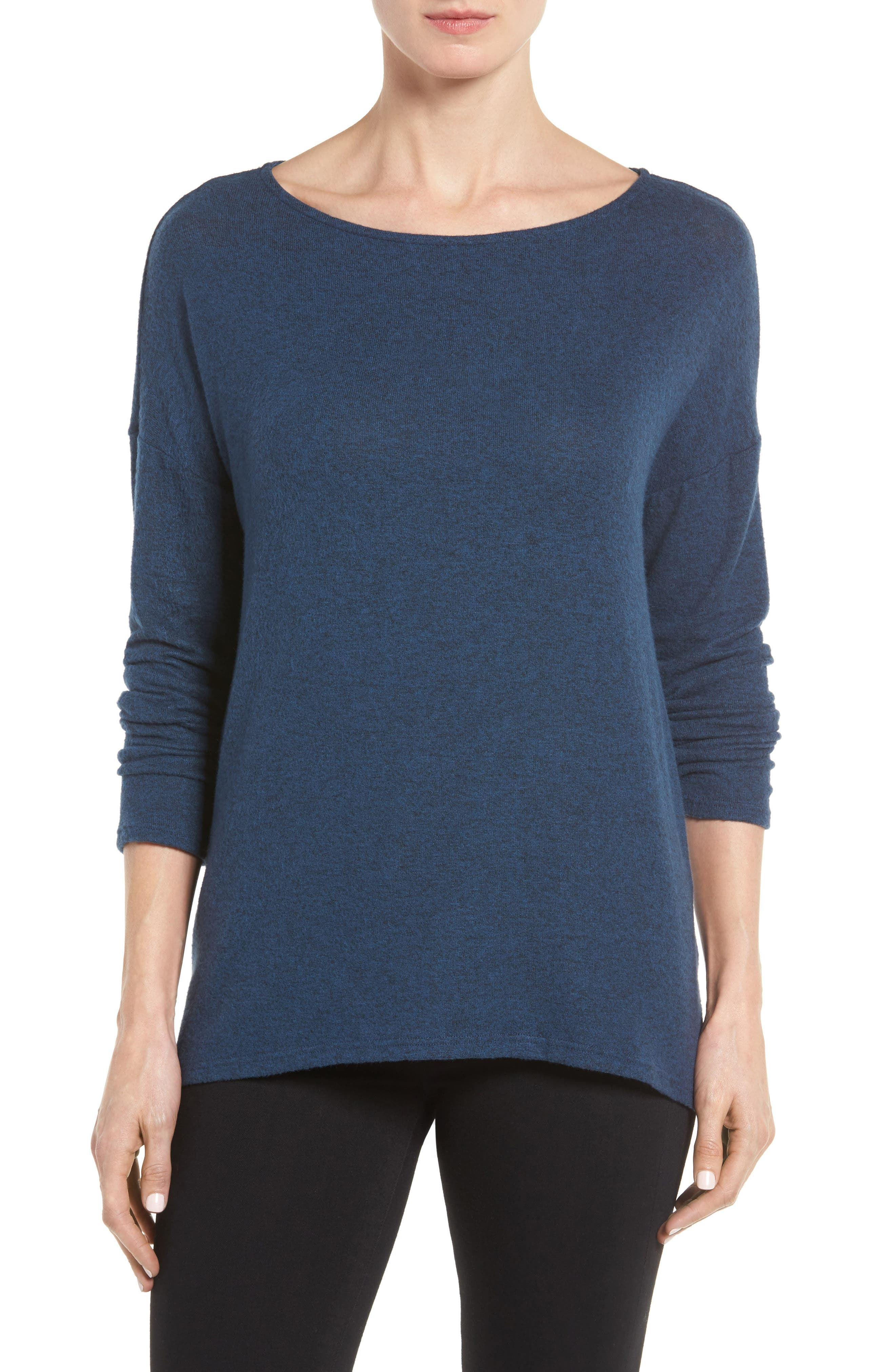 Cozy Ballet Neck High/Low Pullover,                             Alternate thumbnail 29, color,
