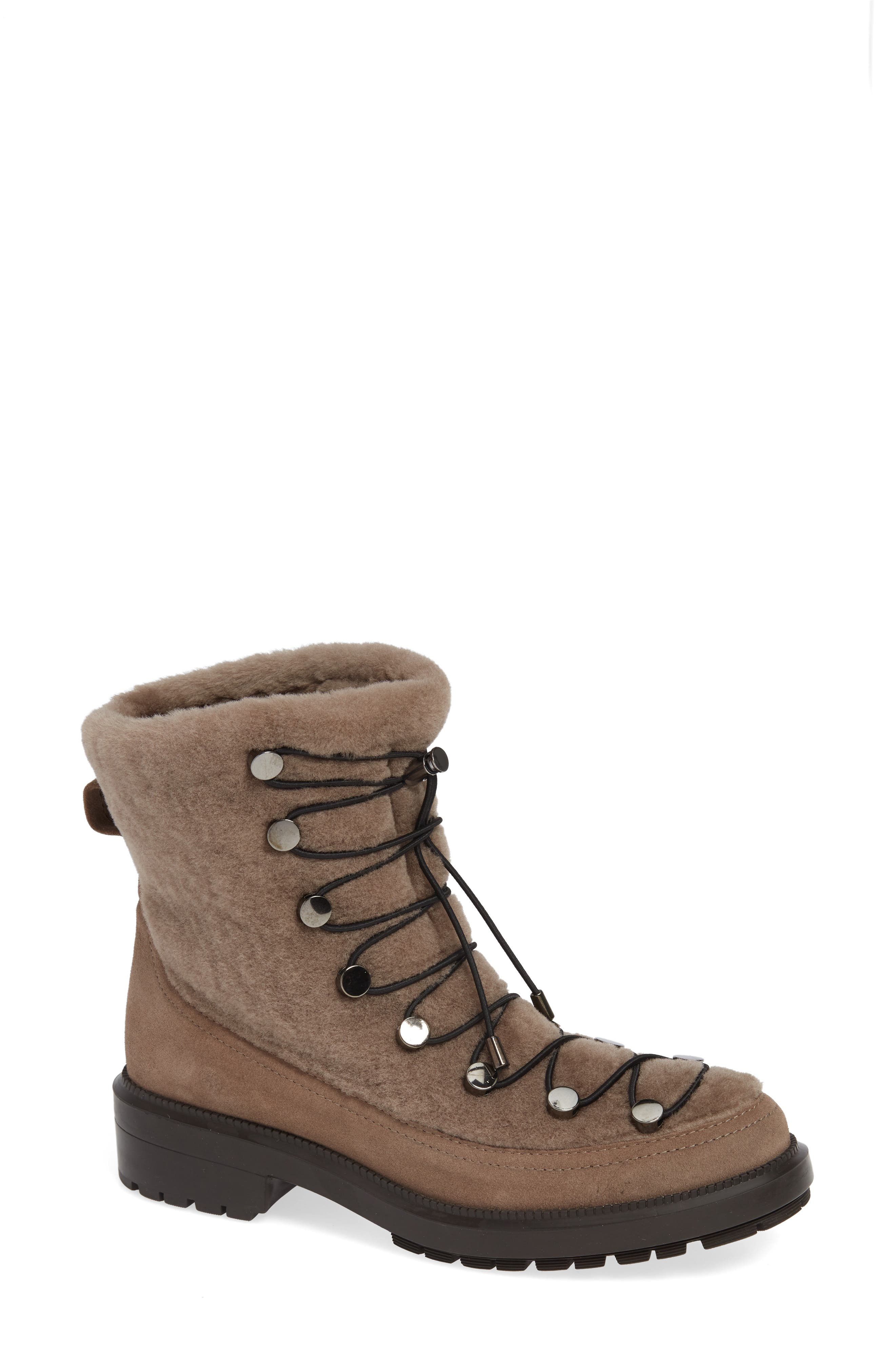 Aquatalia Lorena Genuine Shearling Boot, Beige