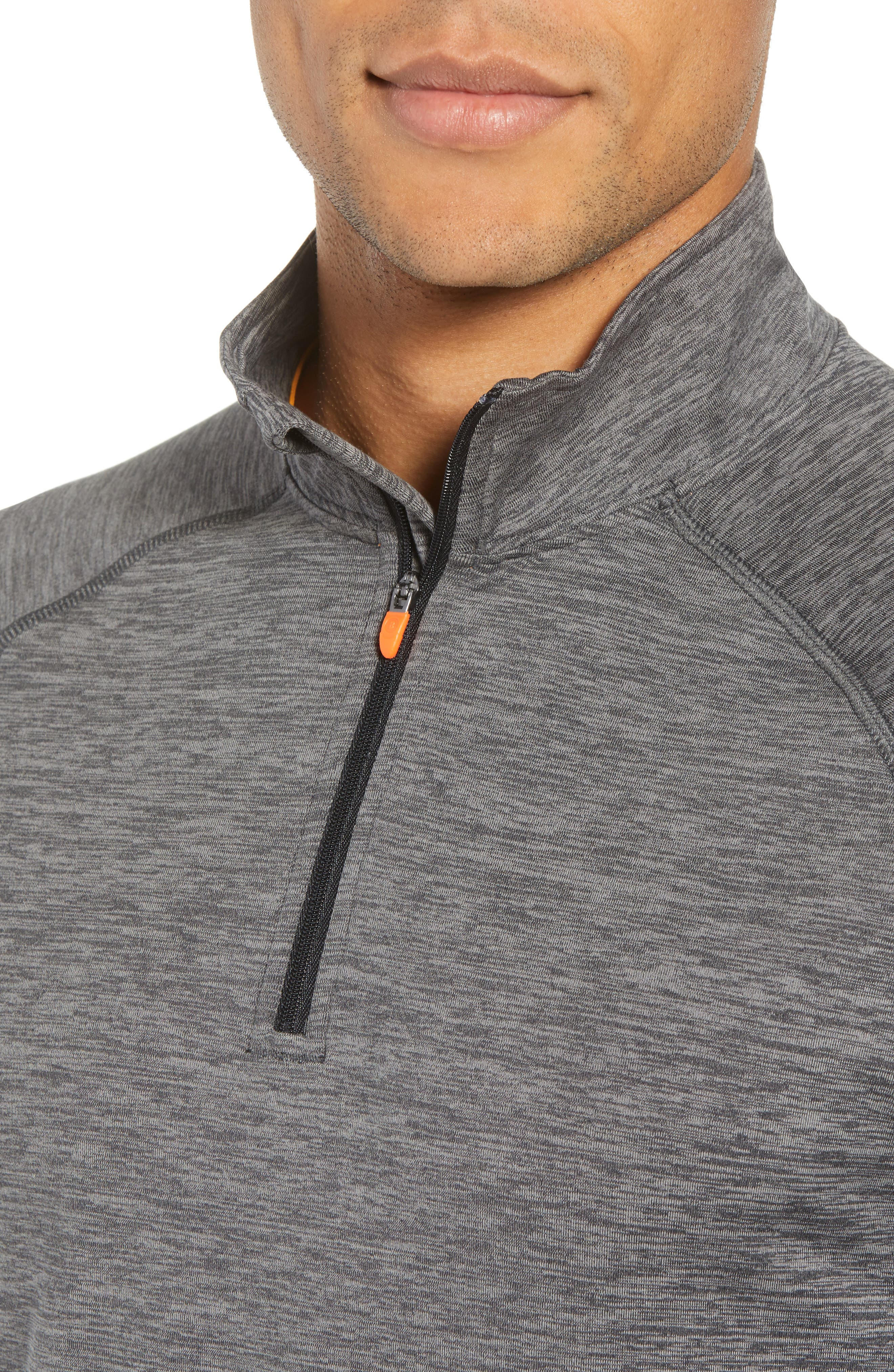 Core Half Zip Sweatshirt,                             Alternate thumbnail 4, color,                             BLACK PEPPER SPACEDYE