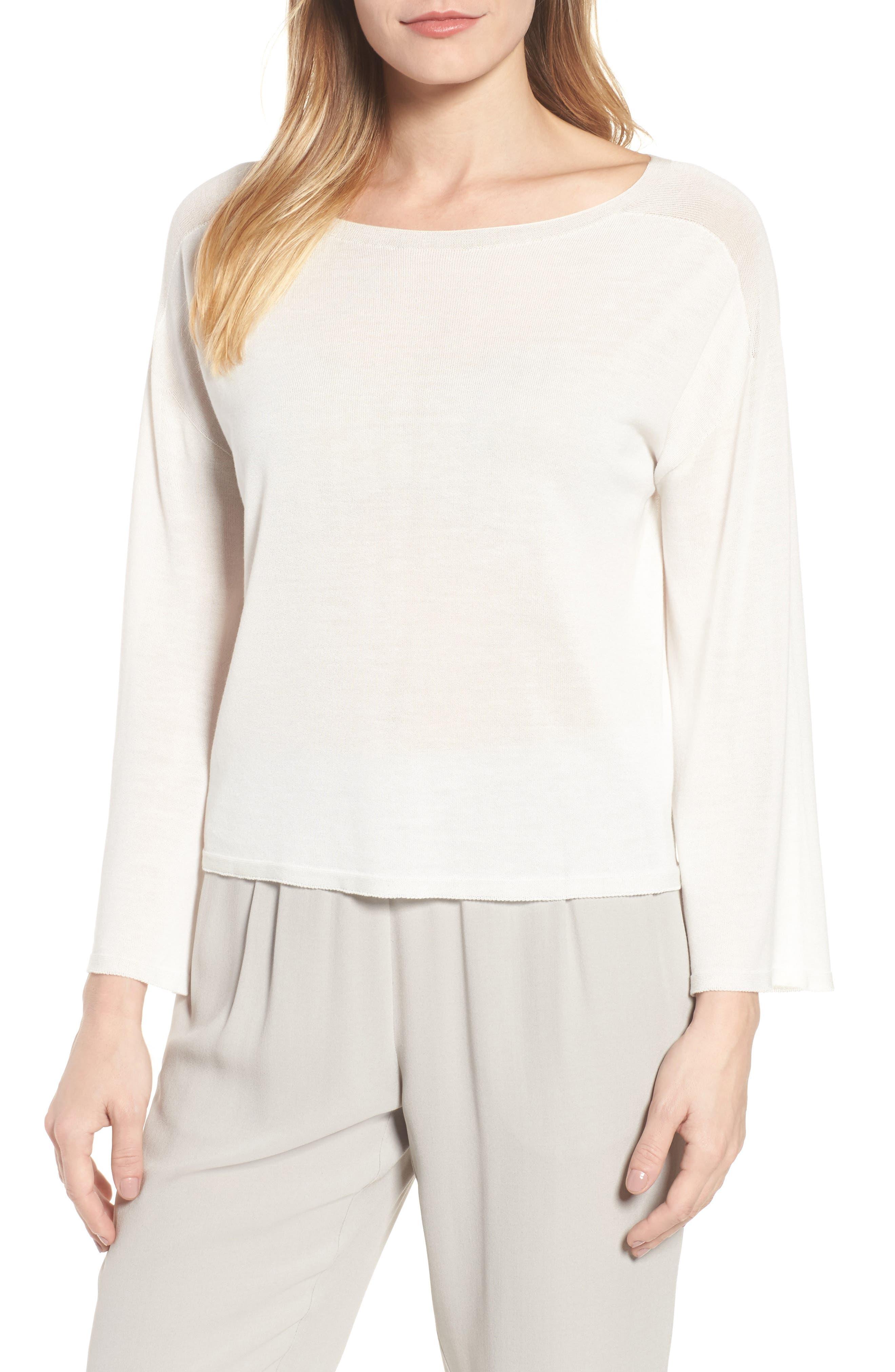 Tencel<sup>®</sup> Lyocell Knit Sweater,                             Main thumbnail 2, color,
