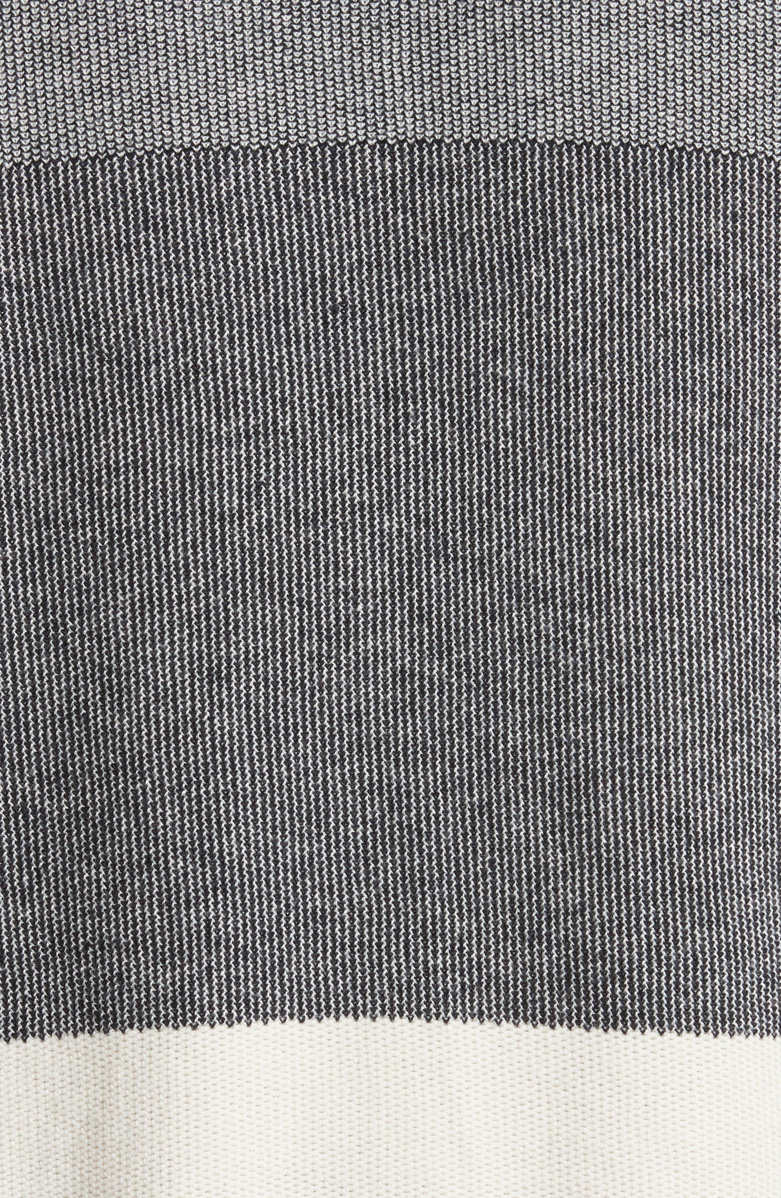 Colorblock Crewneck Sweater,                             Alternate thumbnail 5, color,                             001