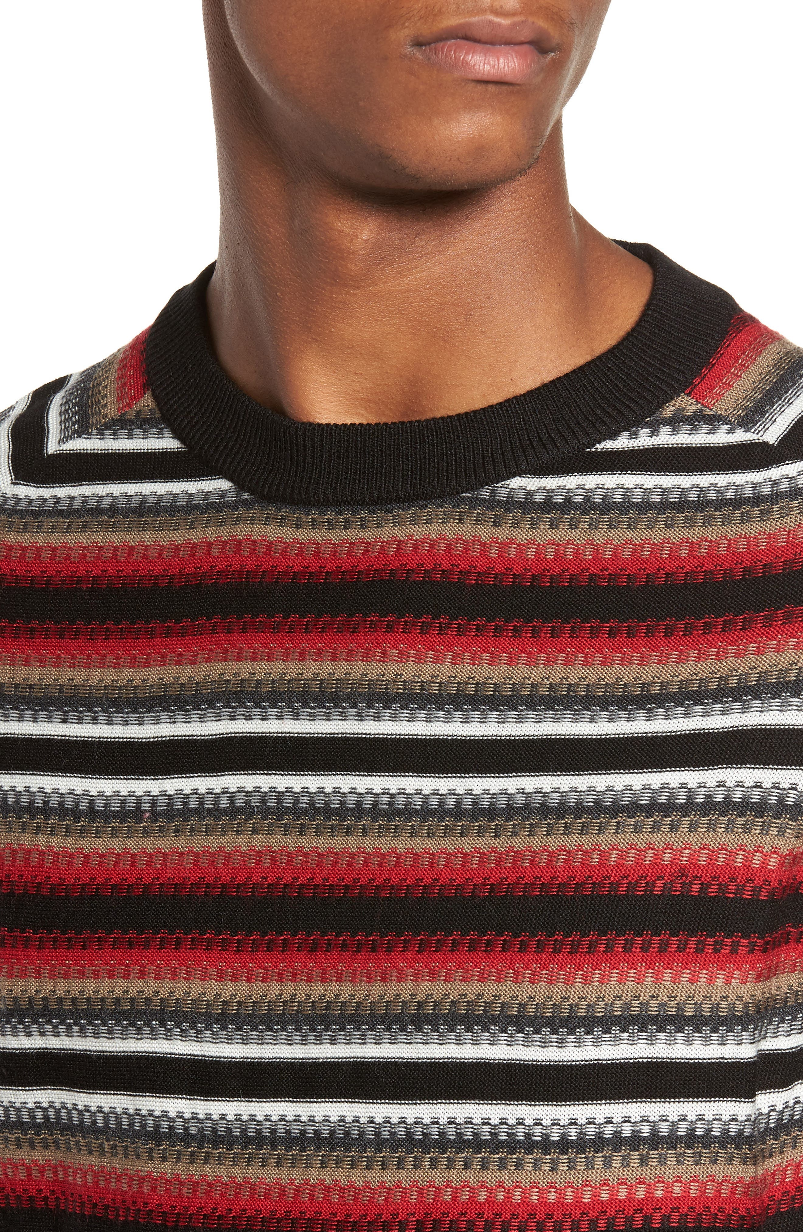 Stripe Sweater,                             Alternate thumbnail 4, color,                             001
