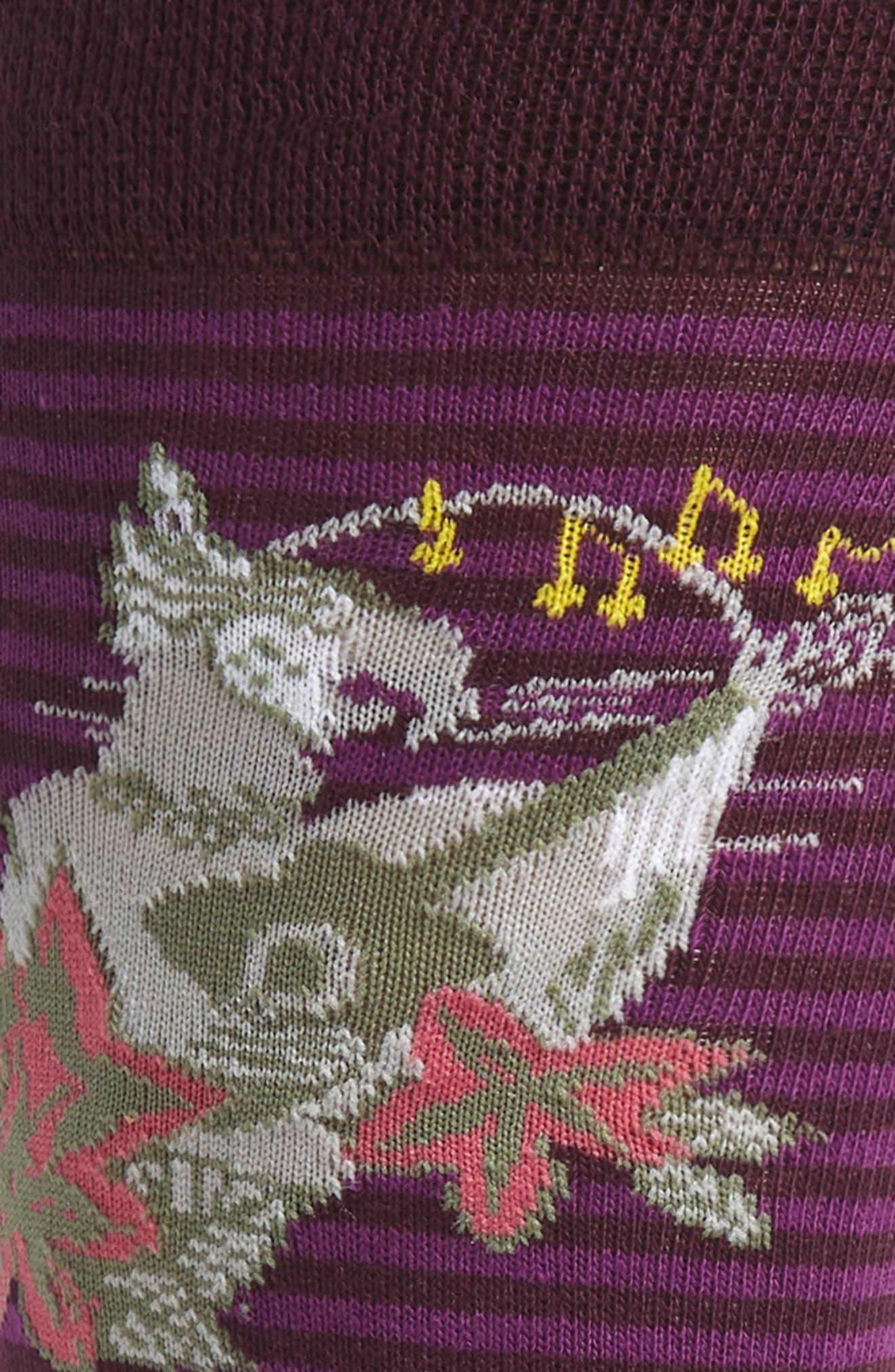 Emar Tropical Socks,                             Alternate thumbnail 2, color,                             DEEP PURPLE