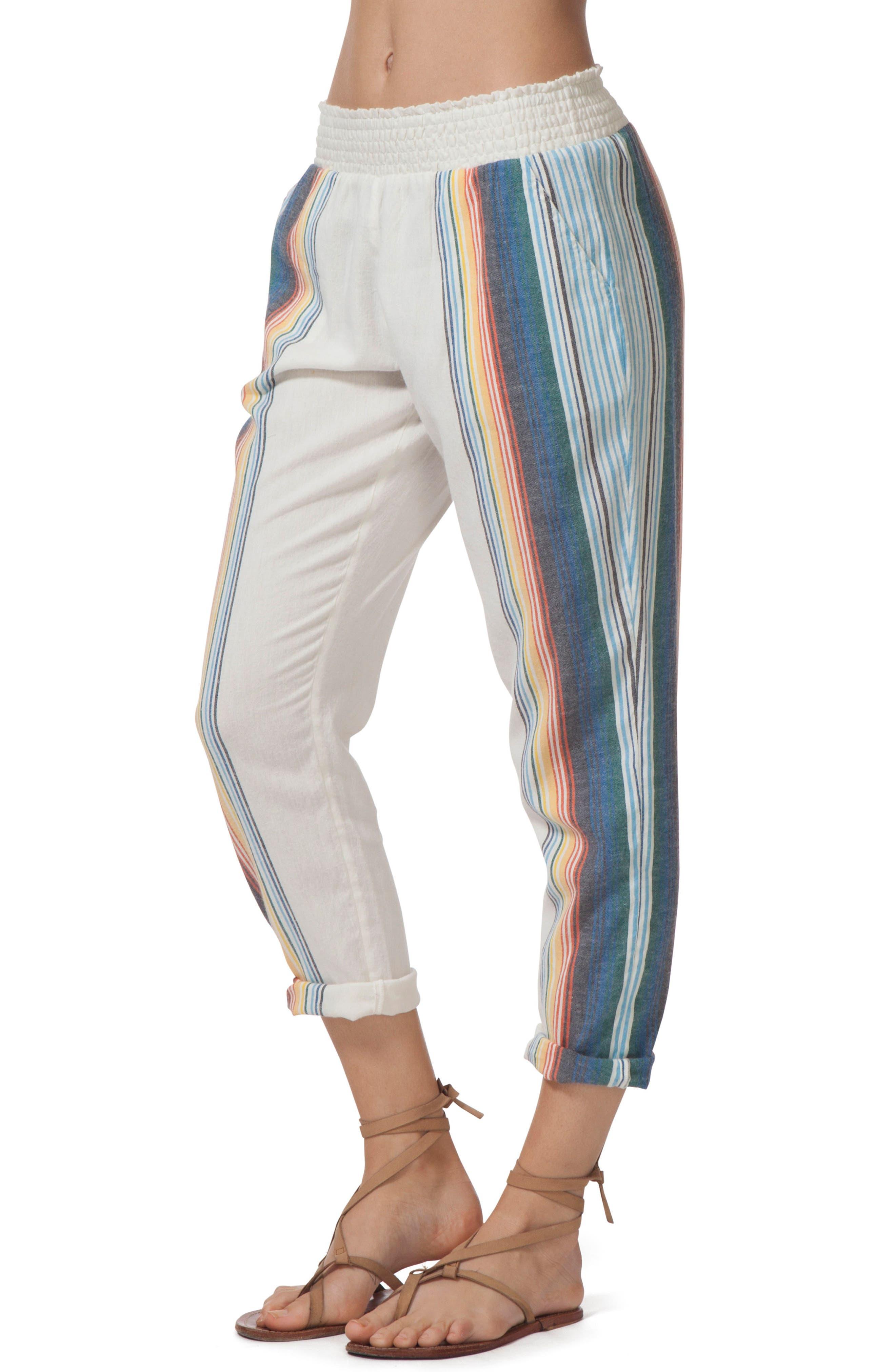 Beach Bazaar Pants,                             Alternate thumbnail 3, color,                             VANILLA
