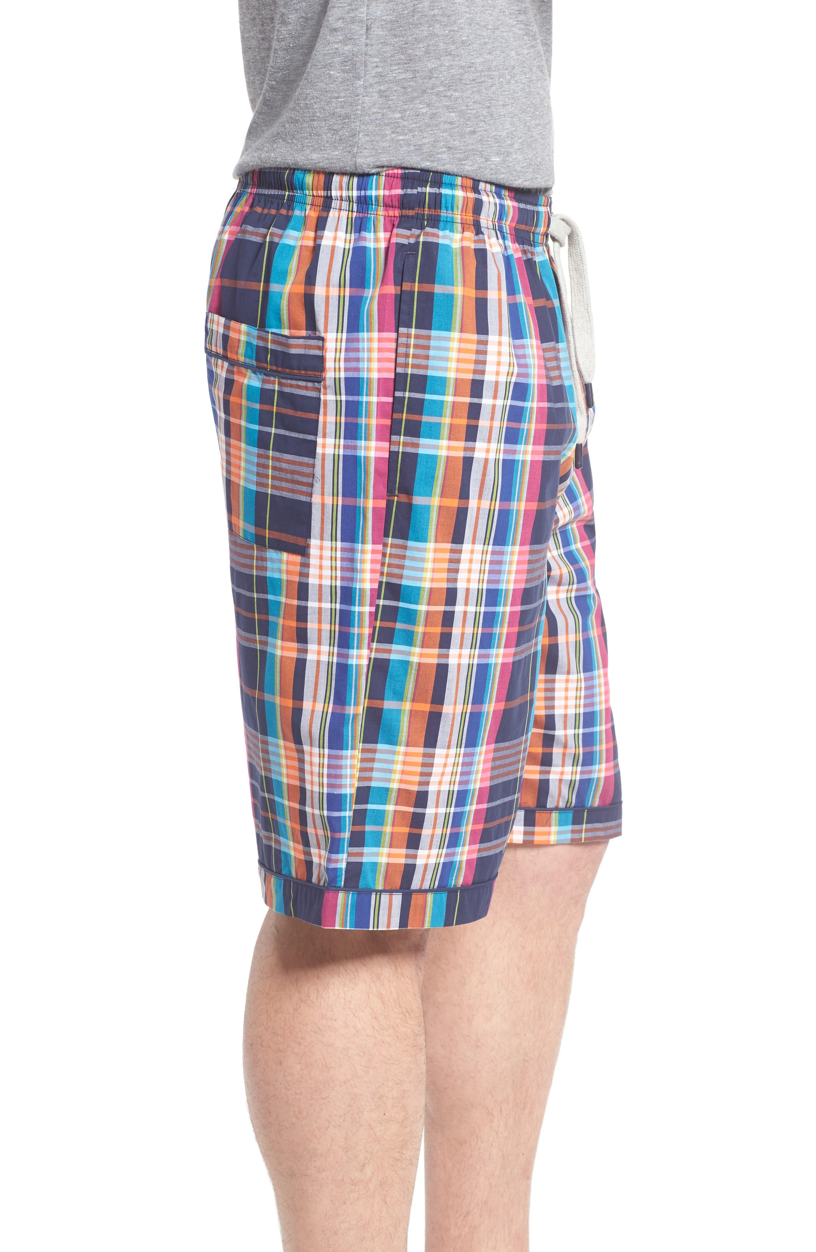Cotton Lounge Shorts,                             Alternate thumbnail 3, color,                             001