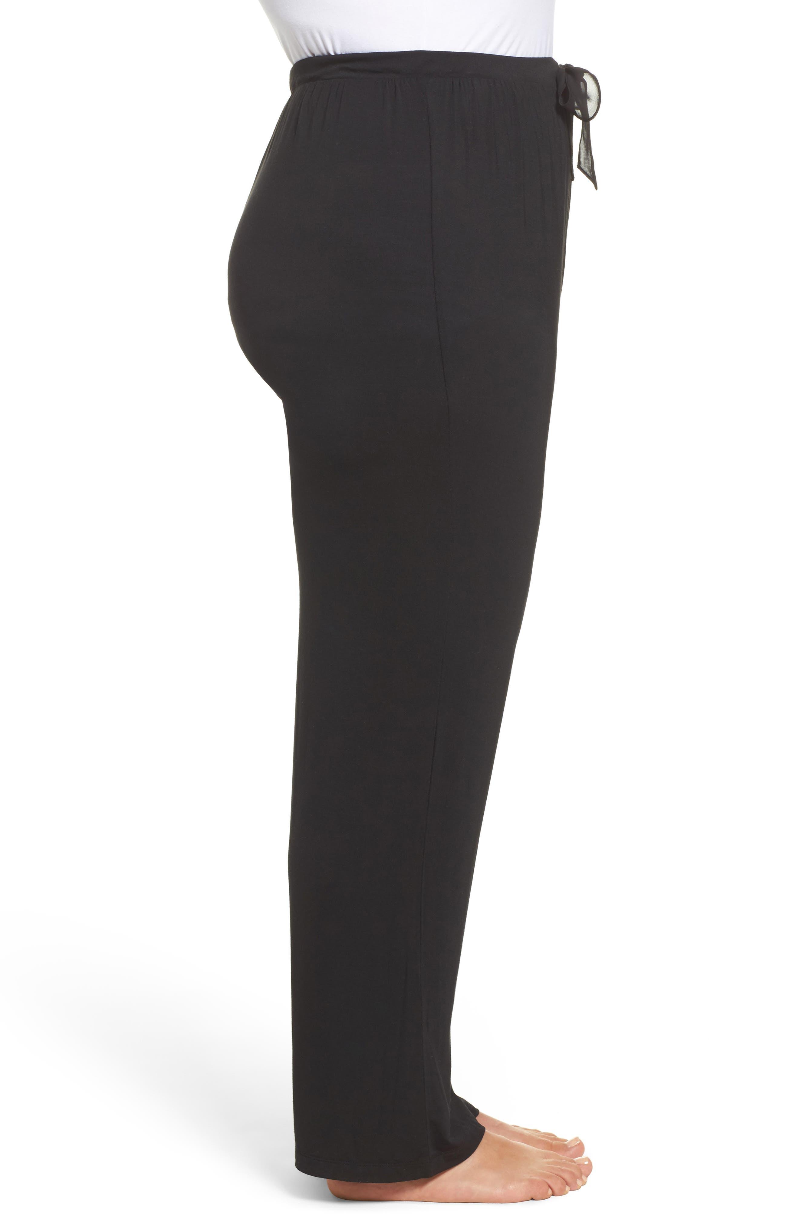 Stretch Modal Pants,                             Alternate thumbnail 3, color,                             001