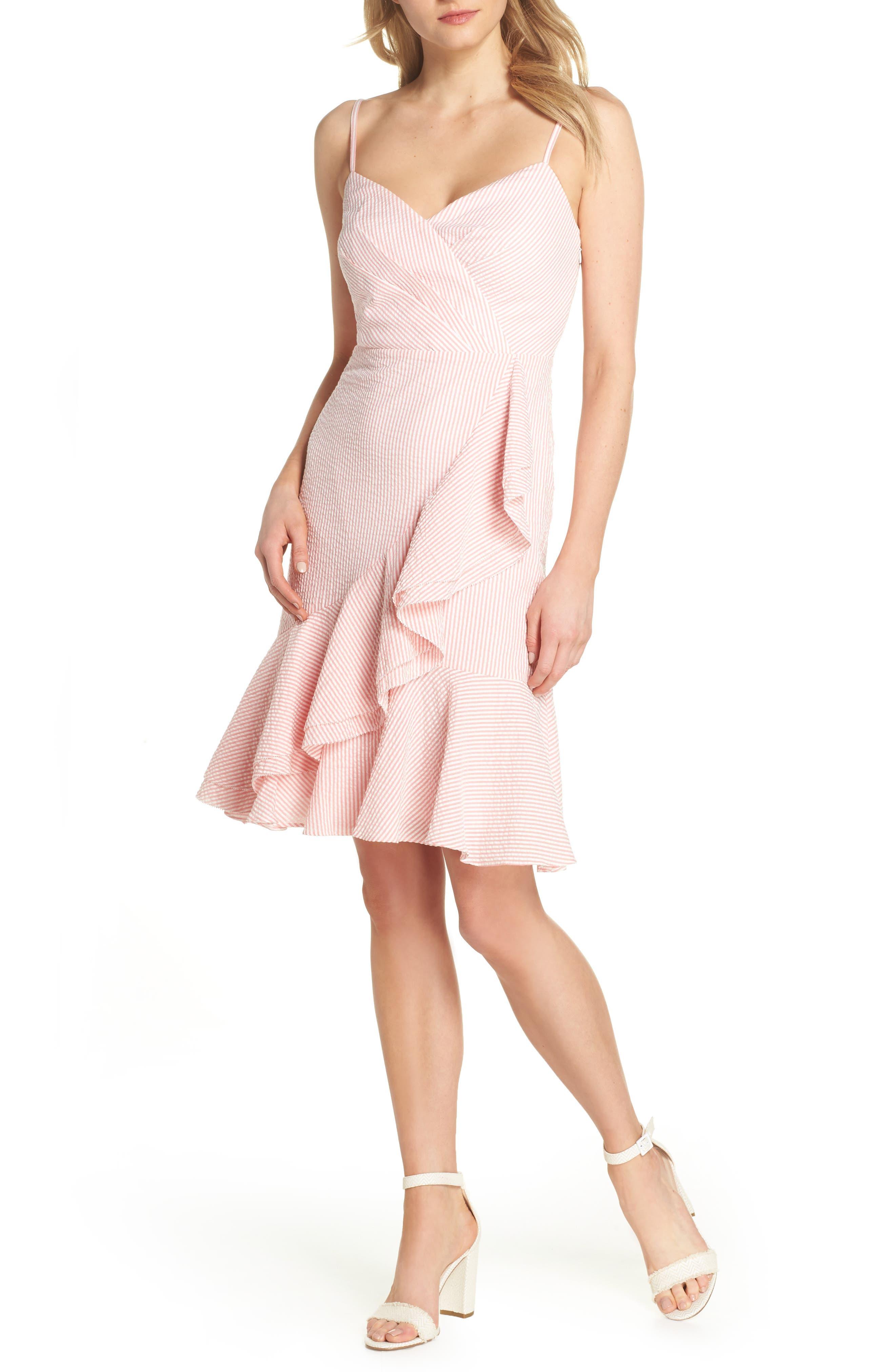Spaghetti Strap Ruffle Dress,                             Main thumbnail 2, color,