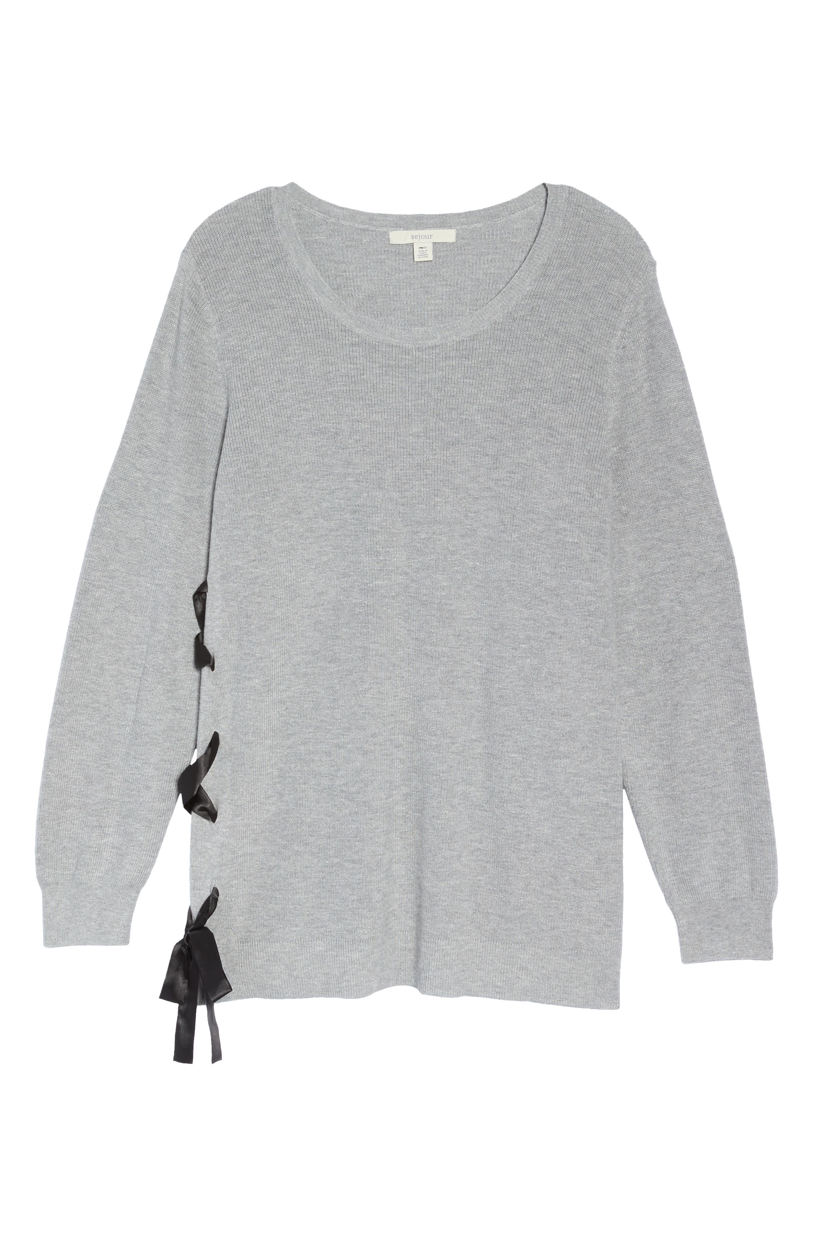 Lace-Up Pullover,                             Alternate thumbnail 6, color,                             030