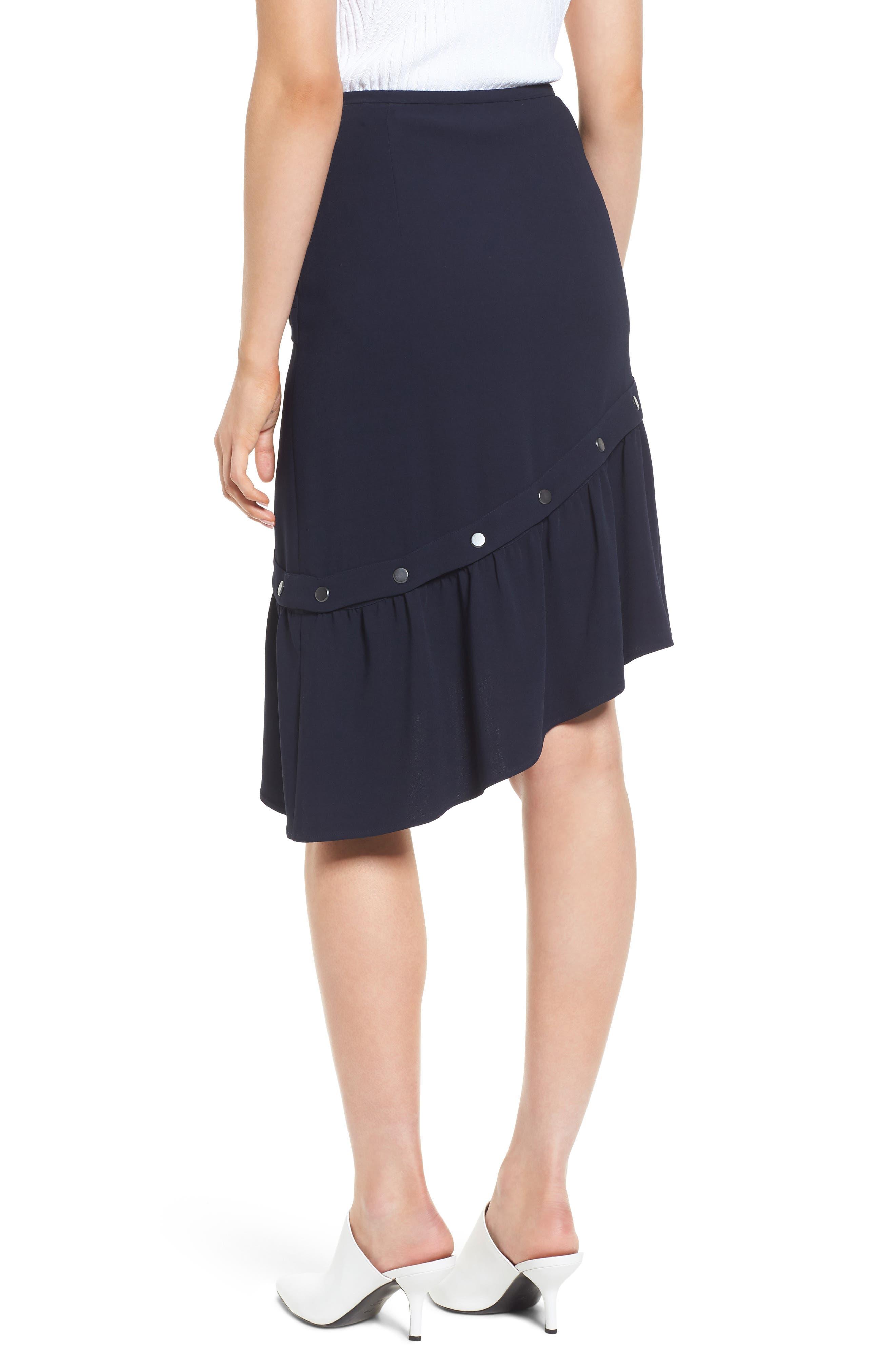 Snap Detail Skirt,                             Alternate thumbnail 2, color,                             410