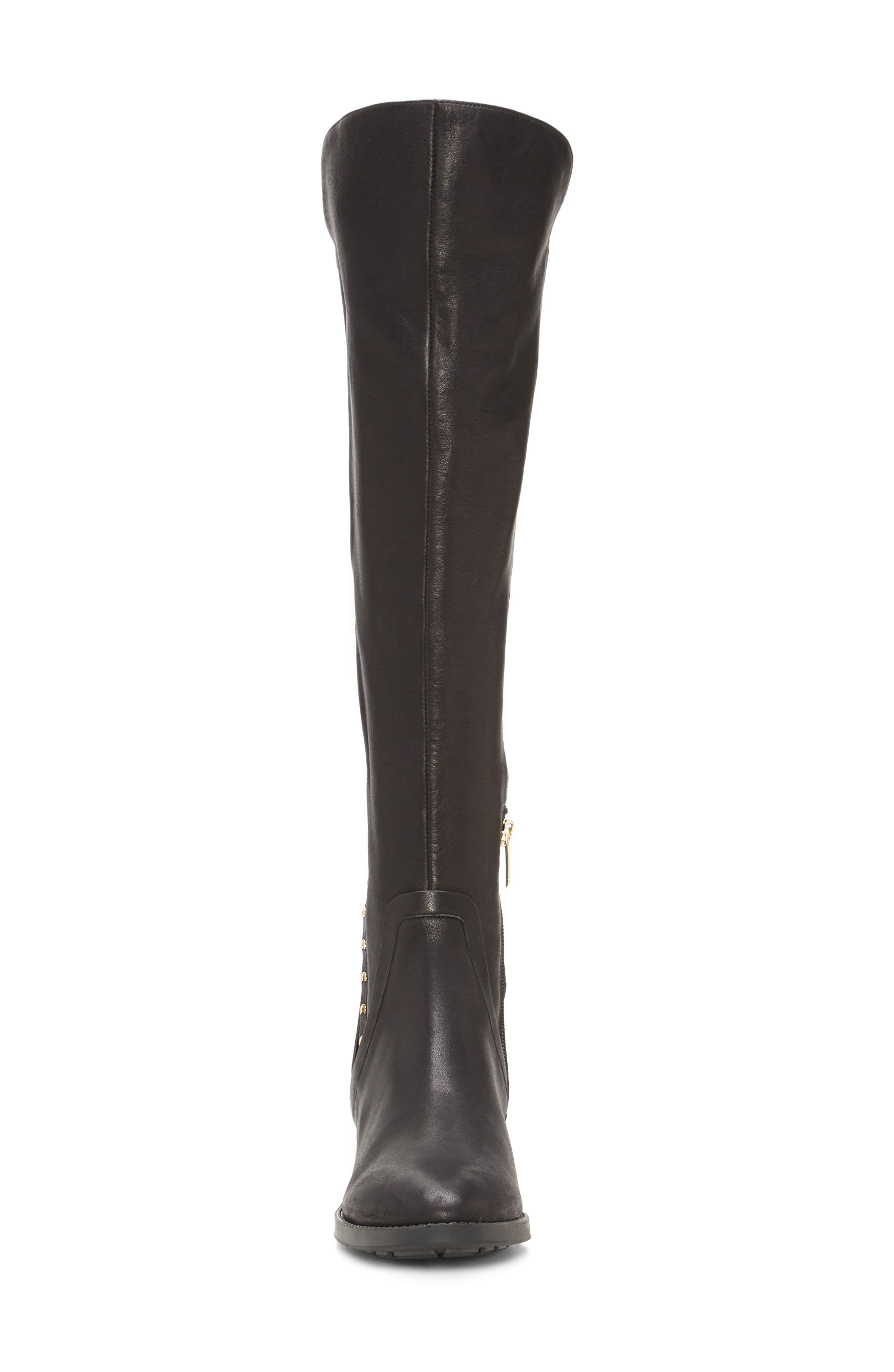 Pardonal Over-the-Knee Boot,                             Alternate thumbnail 4, color,                             BLACK LEATHER