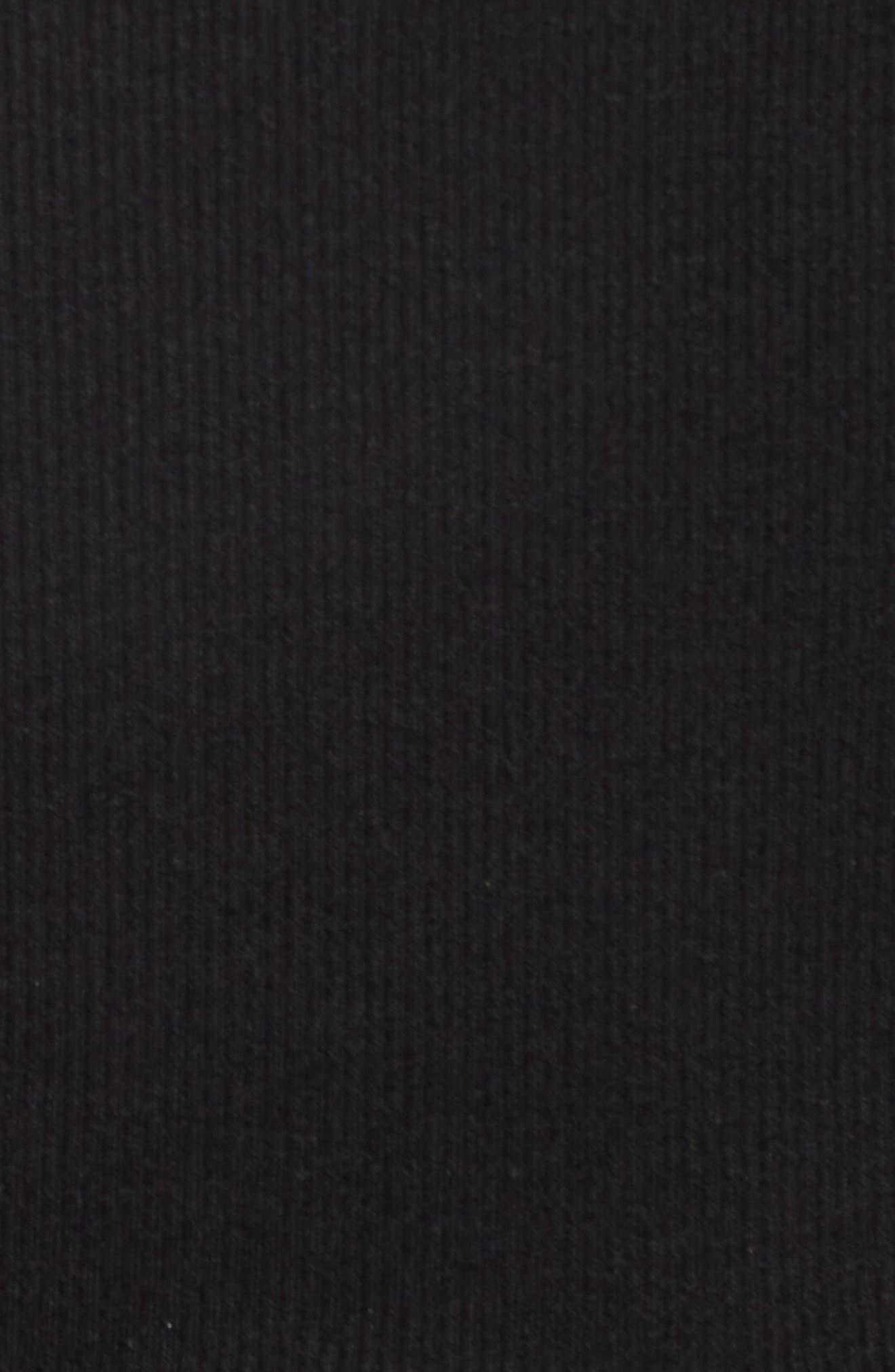 Ruffle Rib Knit Tank,                             Alternate thumbnail 6, color,                             001