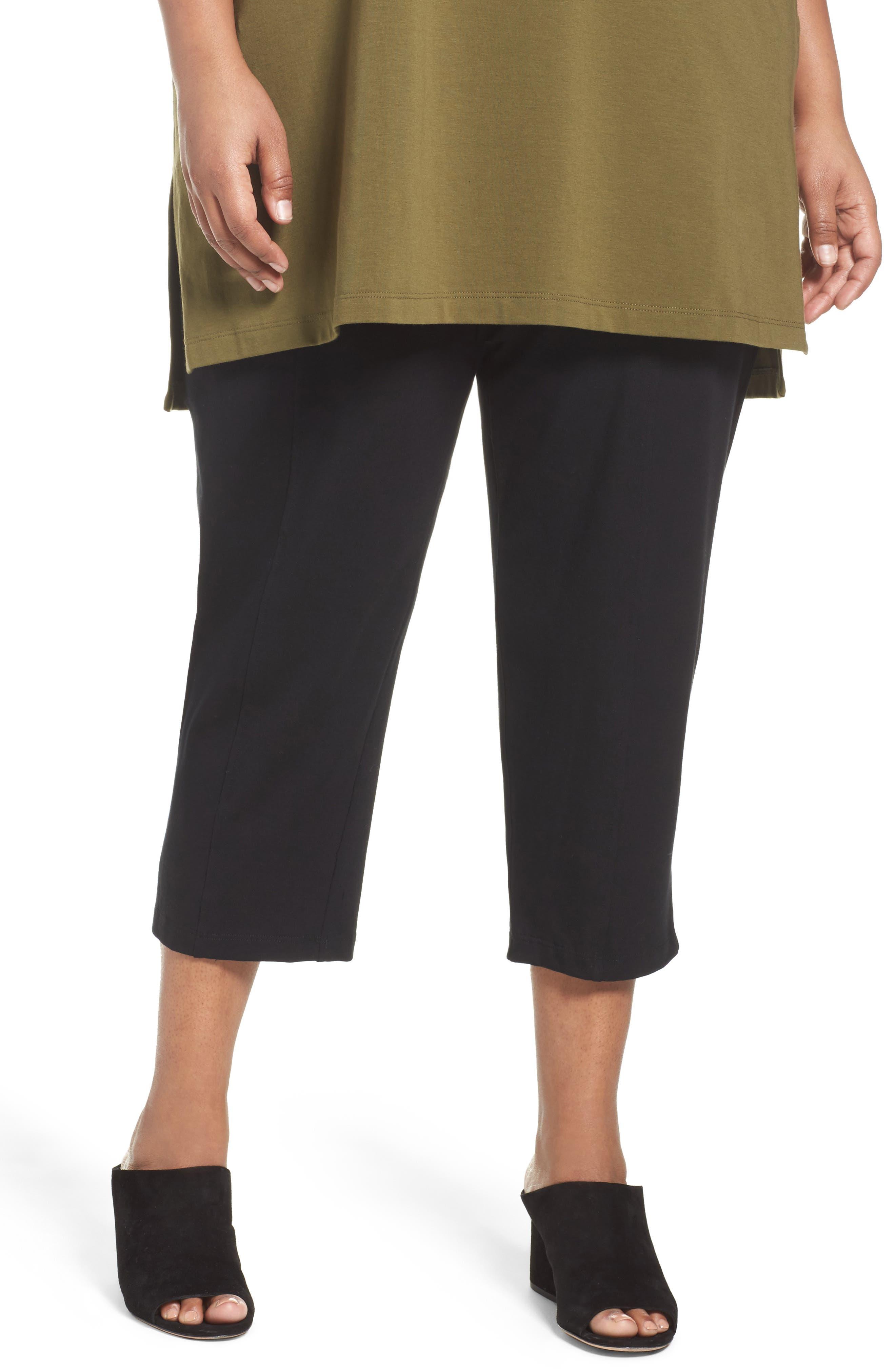 Stretch Organic Cotton Crop Pants,                         Main,                         color,