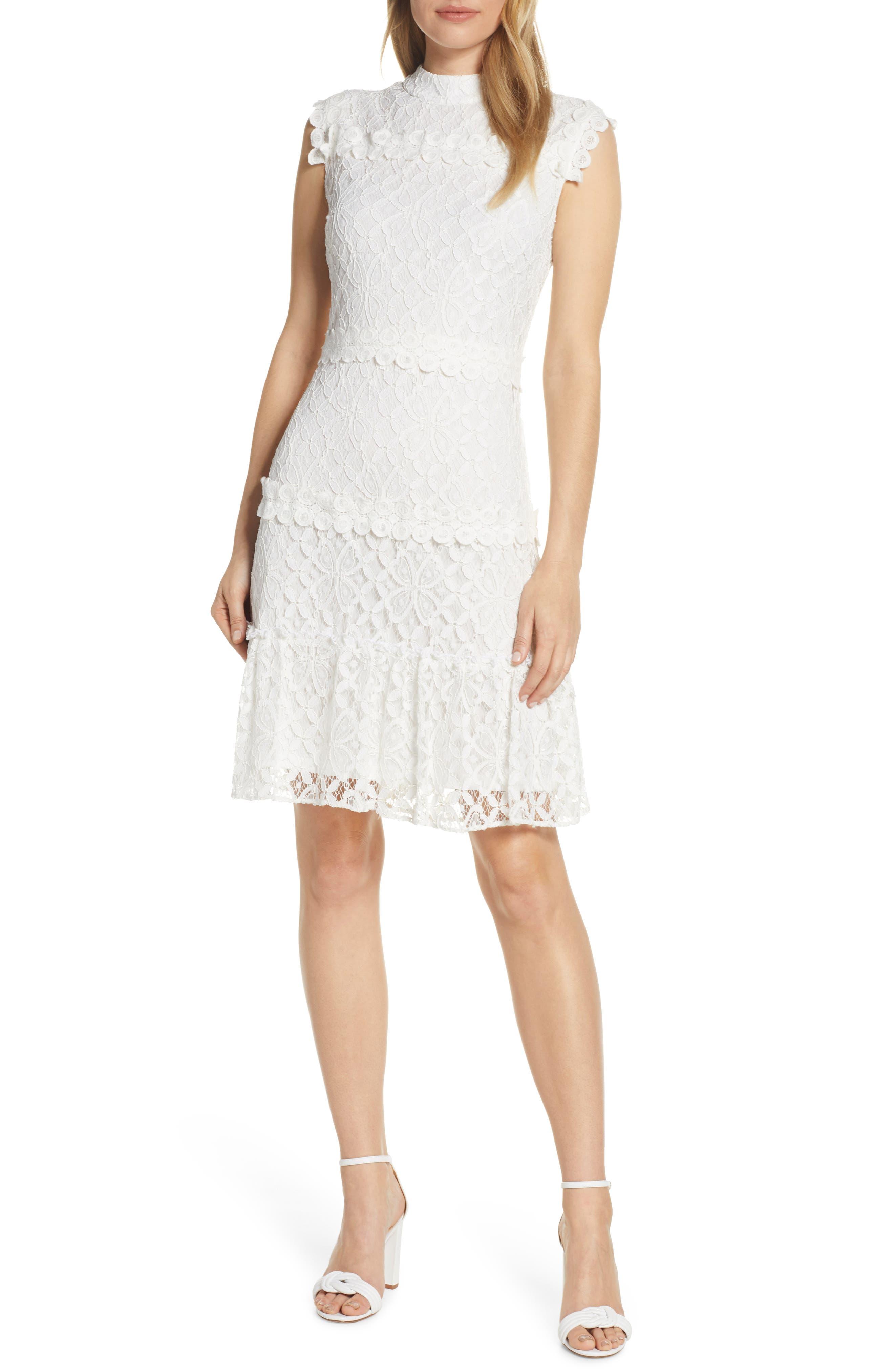 Julia Jordan Lace Sheath Dress, Ivory