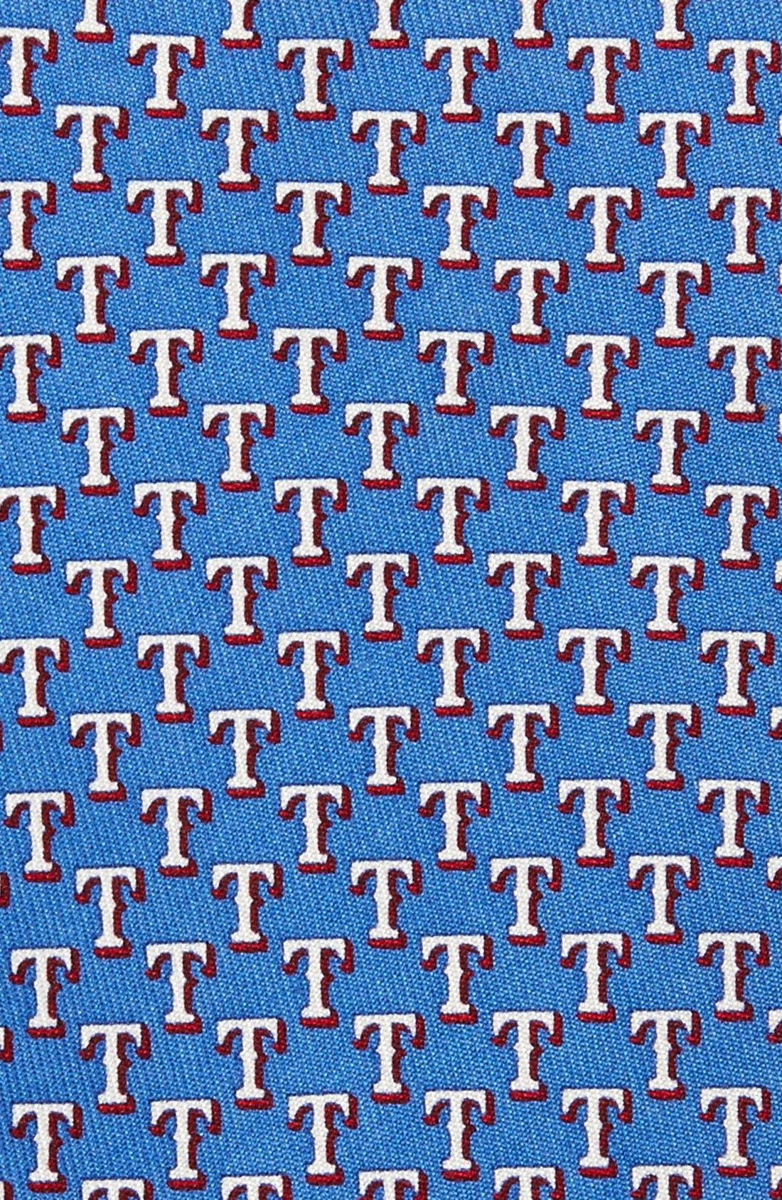 VINEYARD VINES,                             Texas Rangers - MLB Print Silk Tie,                             Alternate thumbnail 2, color,                             420