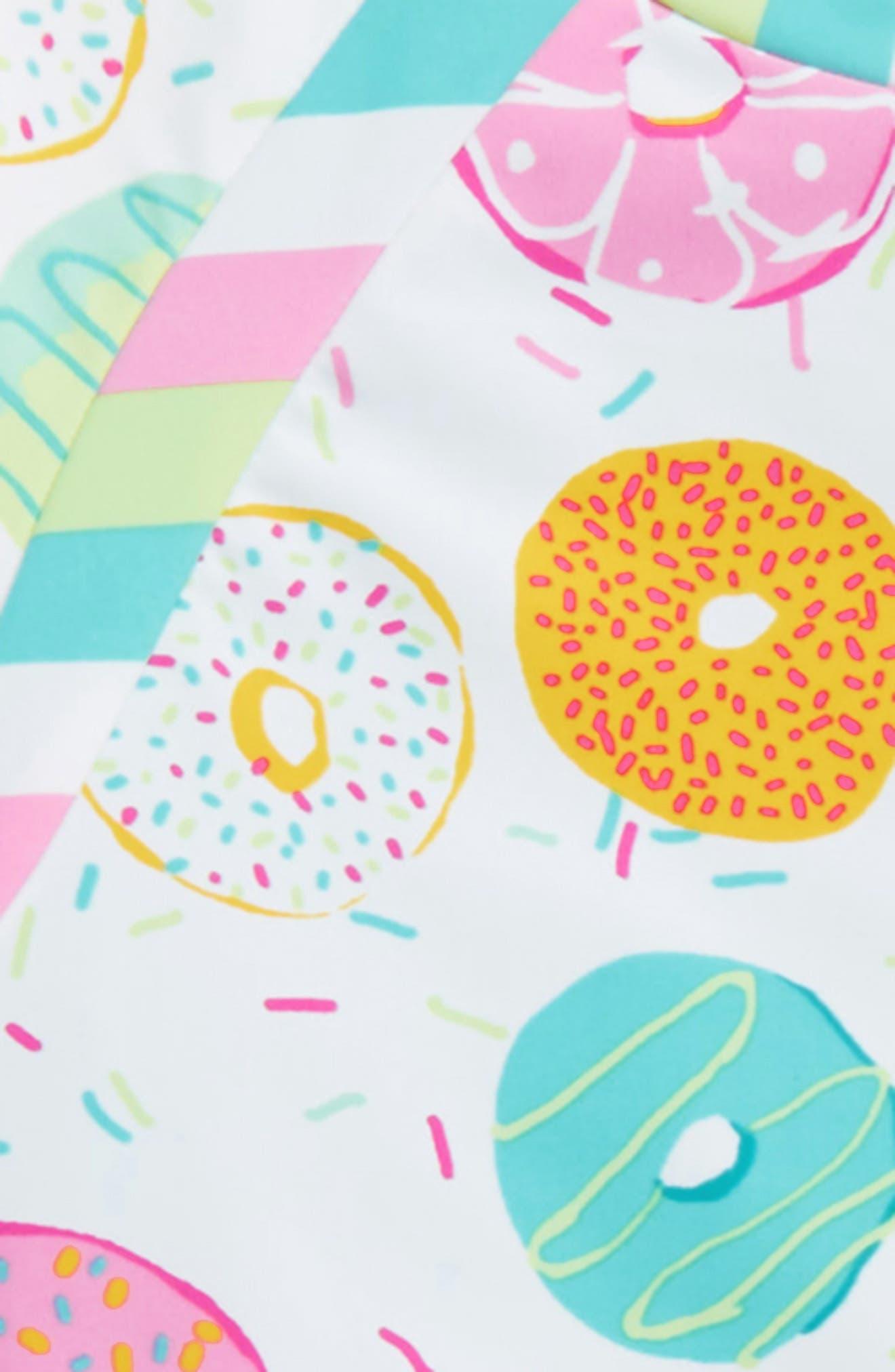 Yummy Donut Two-Piece Rashguard Swimsuit,                             Alternate thumbnail 2, color,                             100