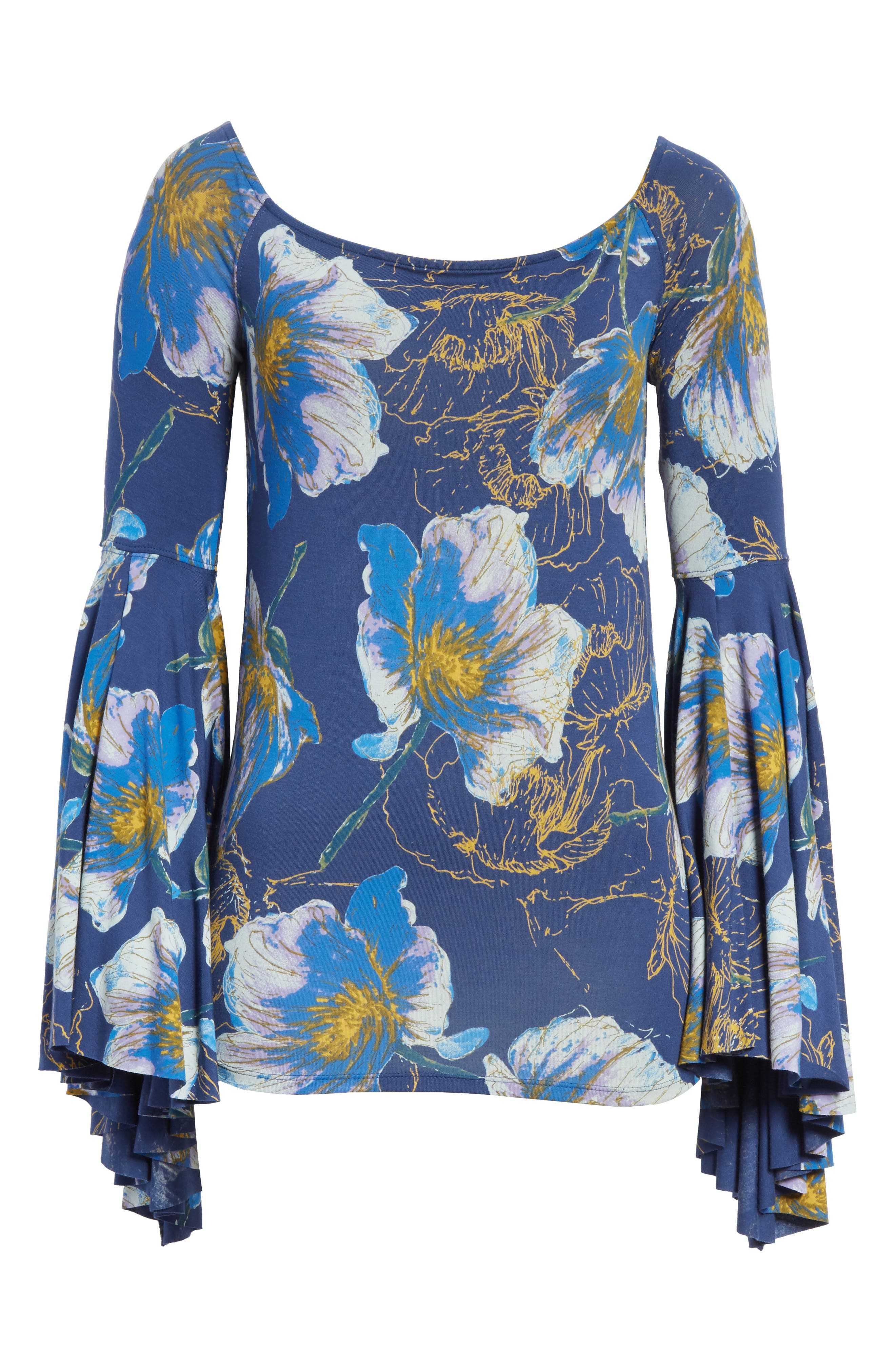 Birds of Paradise Print Off the Shoulder Top,                             Alternate thumbnail 21, color,