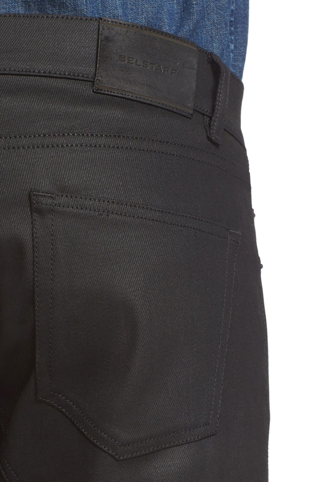 Westham Raw Stretch Denim Moto Jeans,                             Alternate thumbnail 7, color,                             001