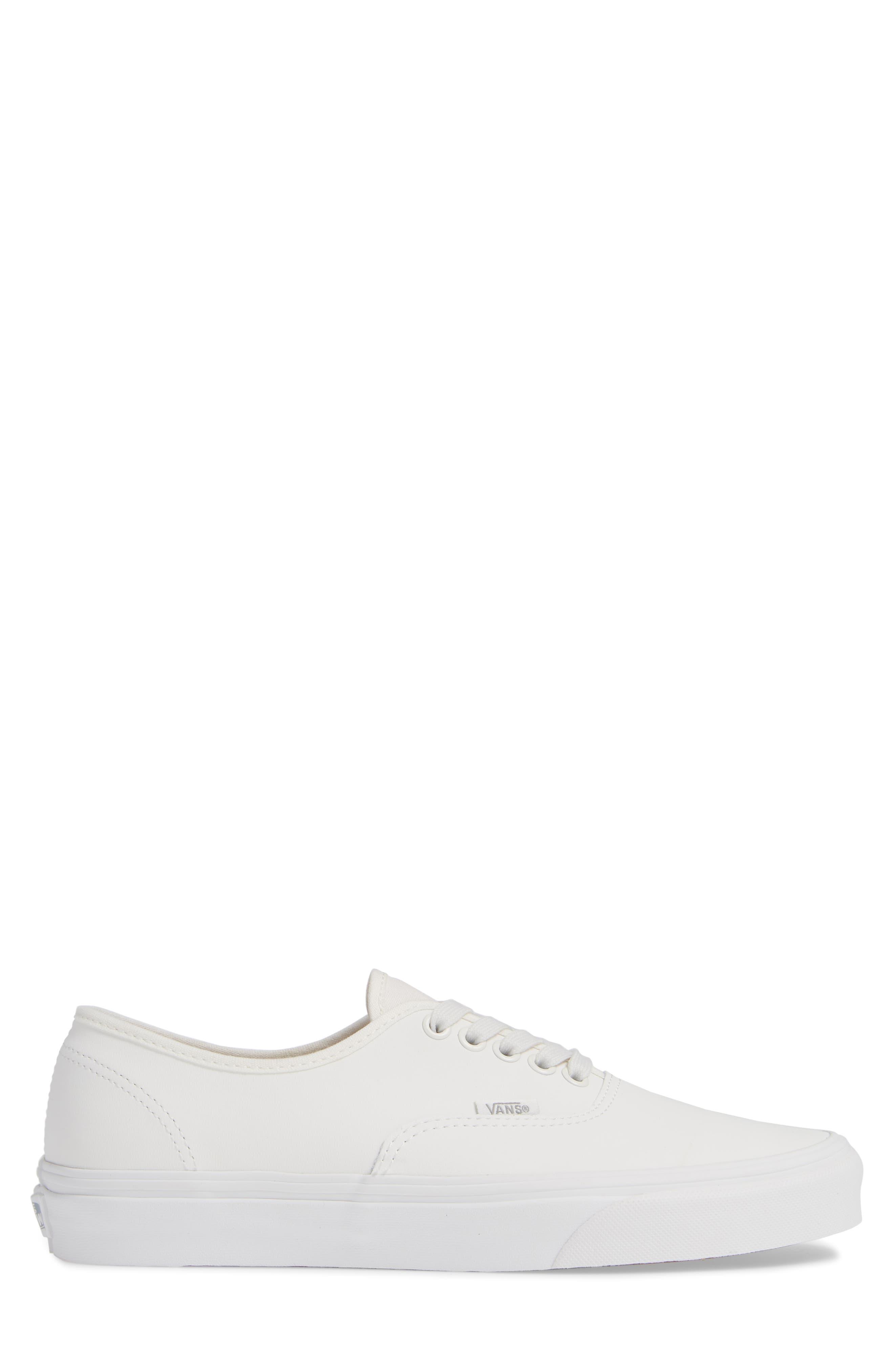 Authentic Buck Sneaker,                             Alternate thumbnail 3, color,                             WHITE