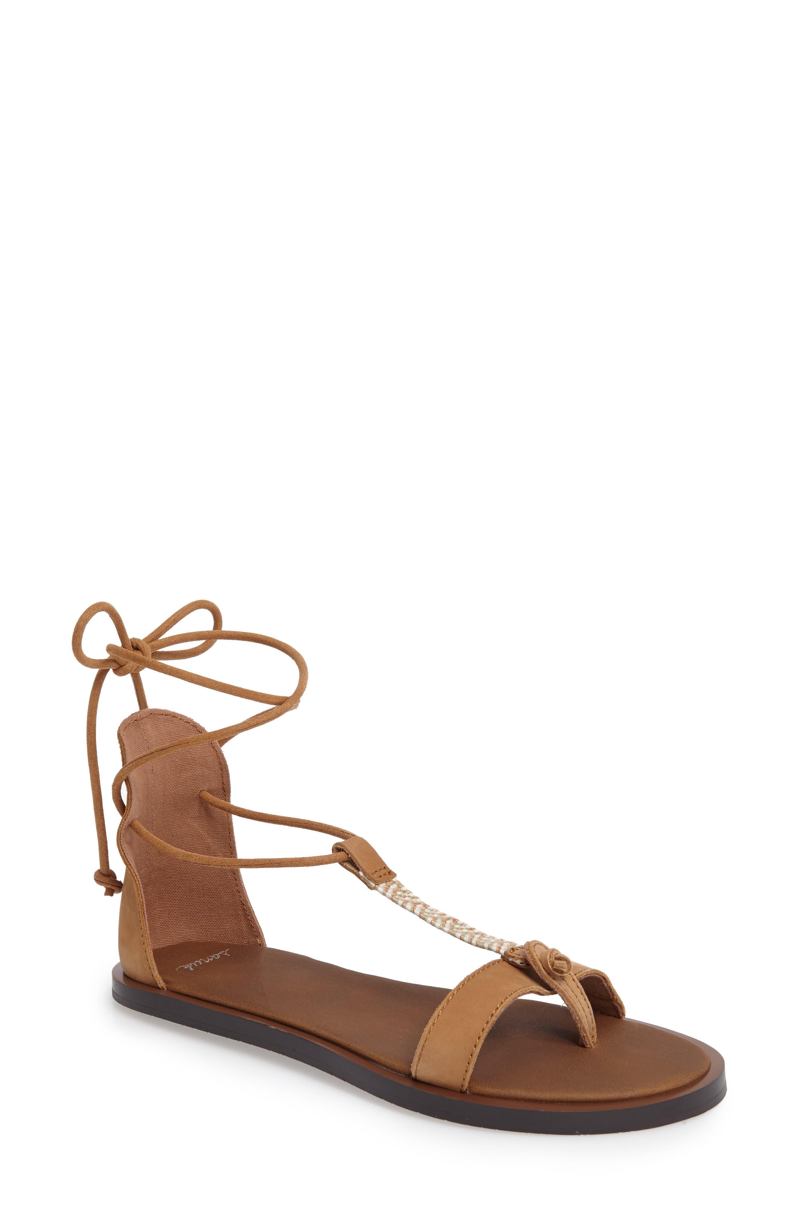 Yoga Tierra Ankle Wrap Sandal,                         Main,                         color, 230