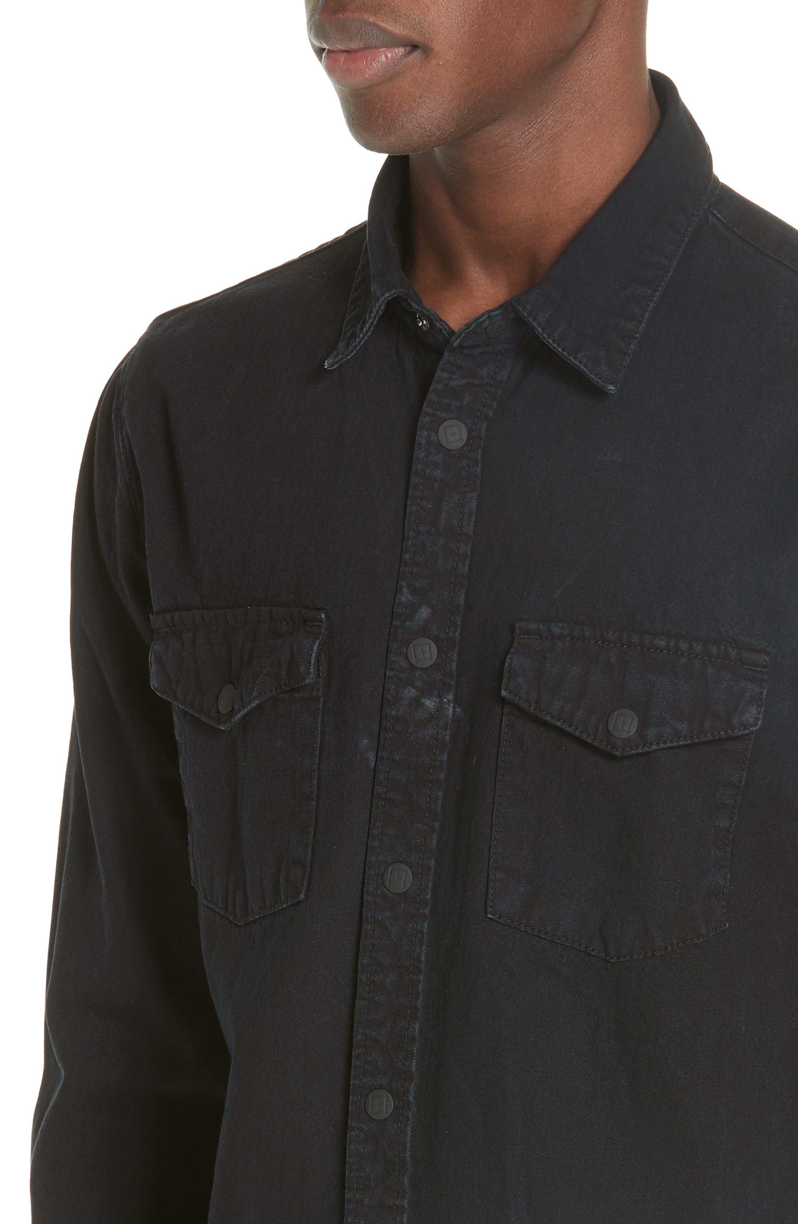 Frontier Work Shirt,                             Alternate thumbnail 2, color,                             BLACK