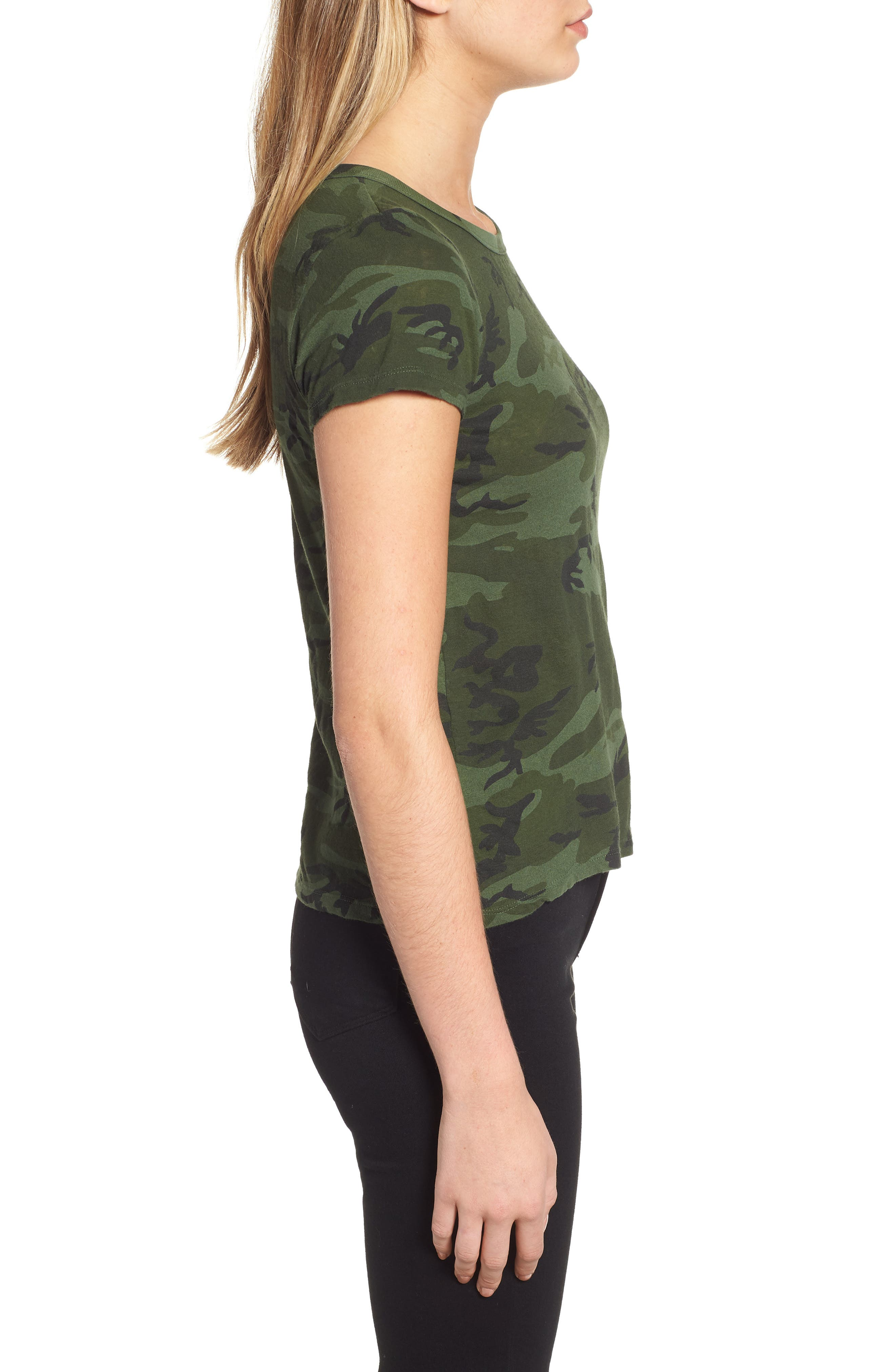 Camo Print Tee,                             Alternate thumbnail 3, color,                             371
