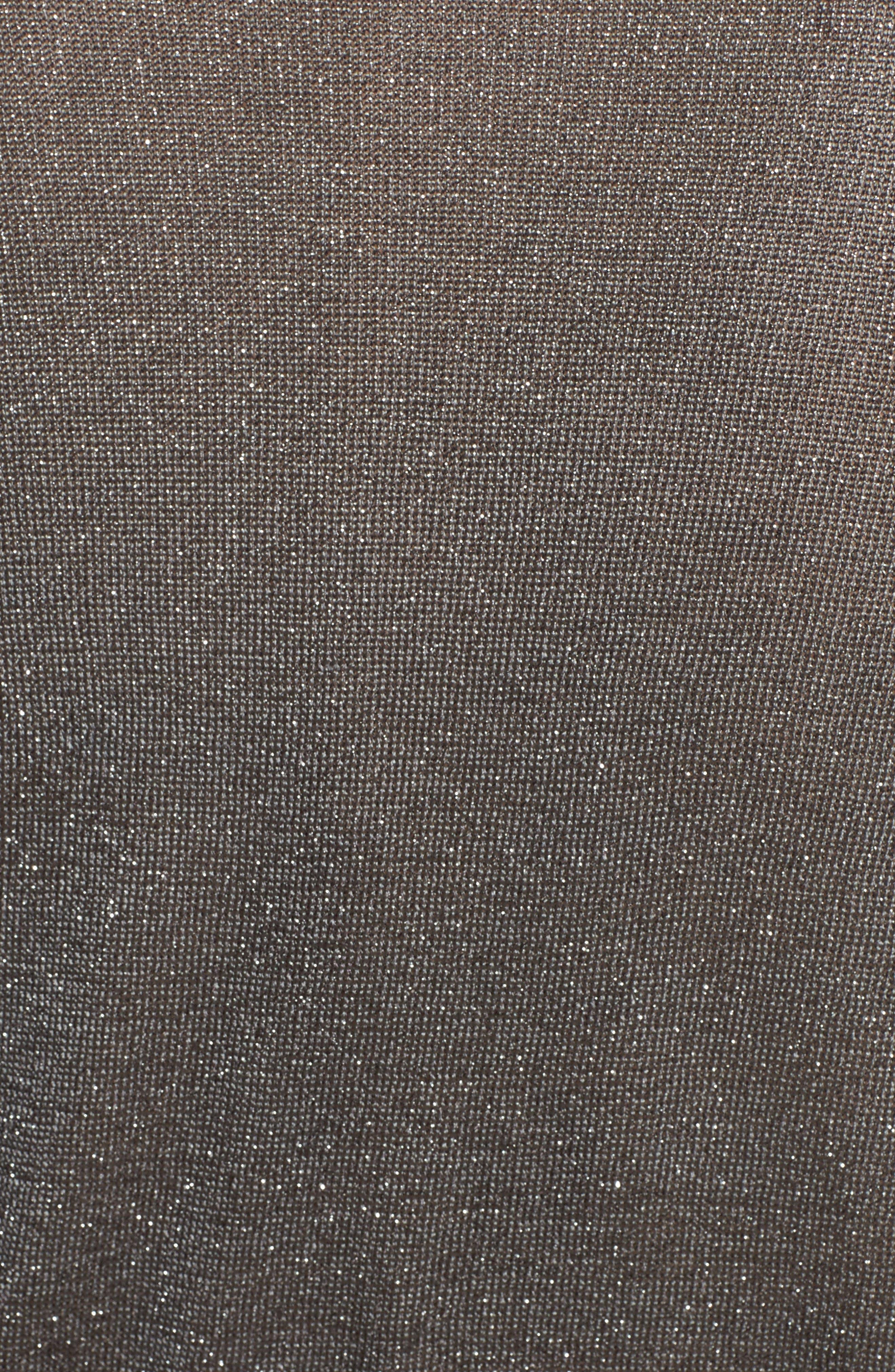 Tiered Ruffle Sleeve Metallic Top,                             Alternate thumbnail 5, color,                             020
