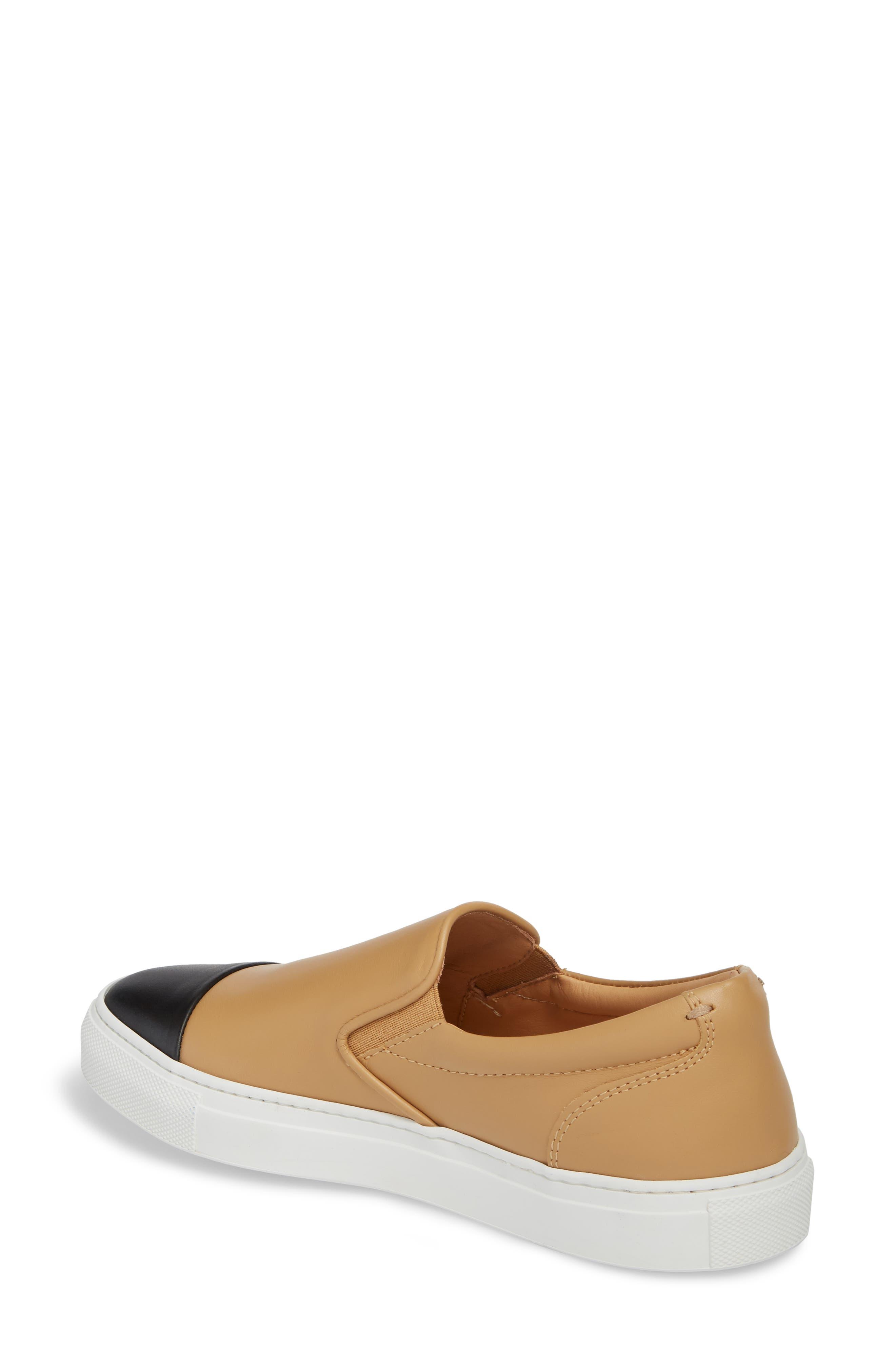 Wooster Cap Toe Slip-On Sneaker,                             Alternate thumbnail 2, color,                             ALMOND