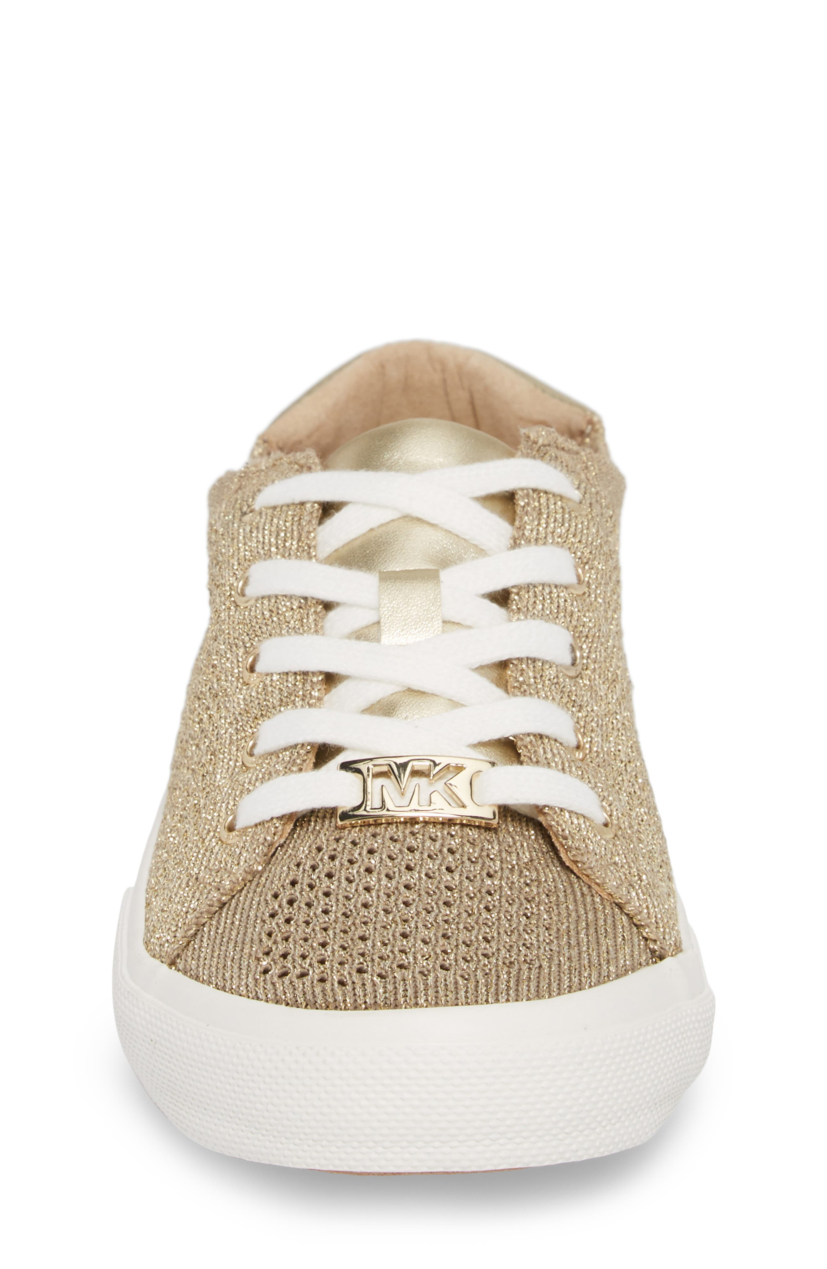 Ima Metallic Knit Sneaker,                             Alternate thumbnail 4, color,                             GOLD