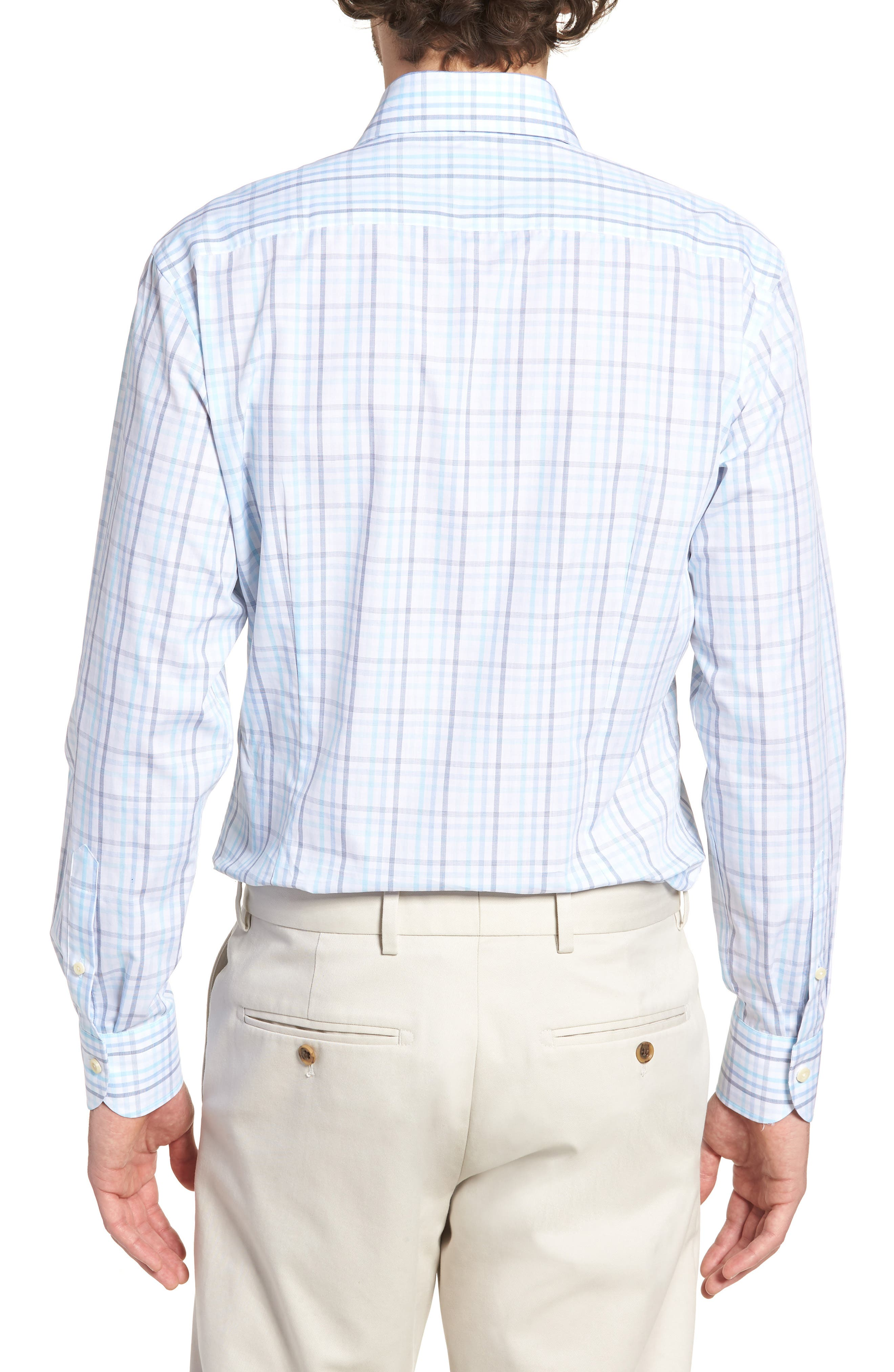 Pelton Slim Fit Check Dress Shirt,                             Alternate thumbnail 3, color,                             439